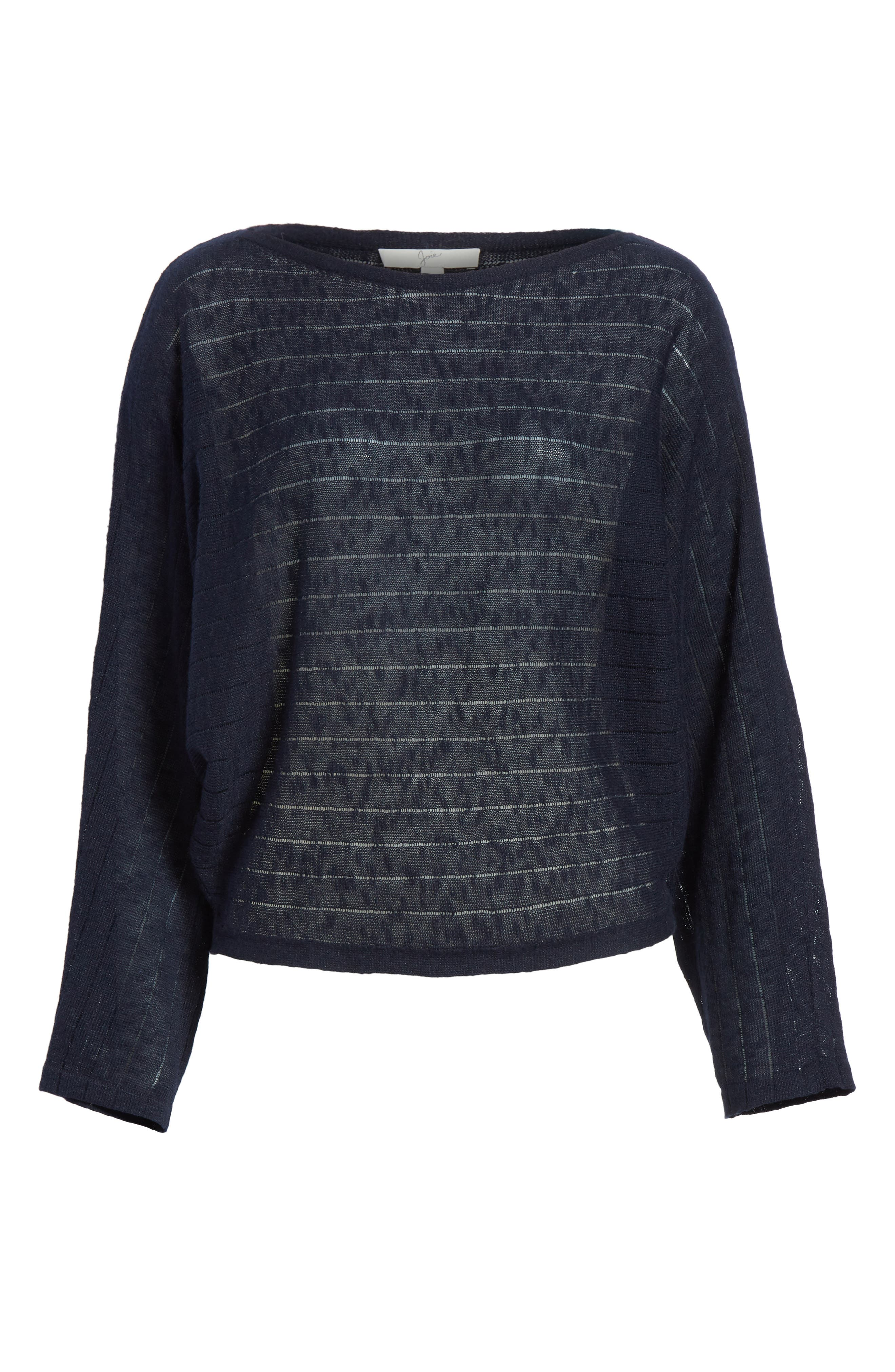 Ramie Cotton Sweater,                             Alternate thumbnail 6, color,                             Midnight