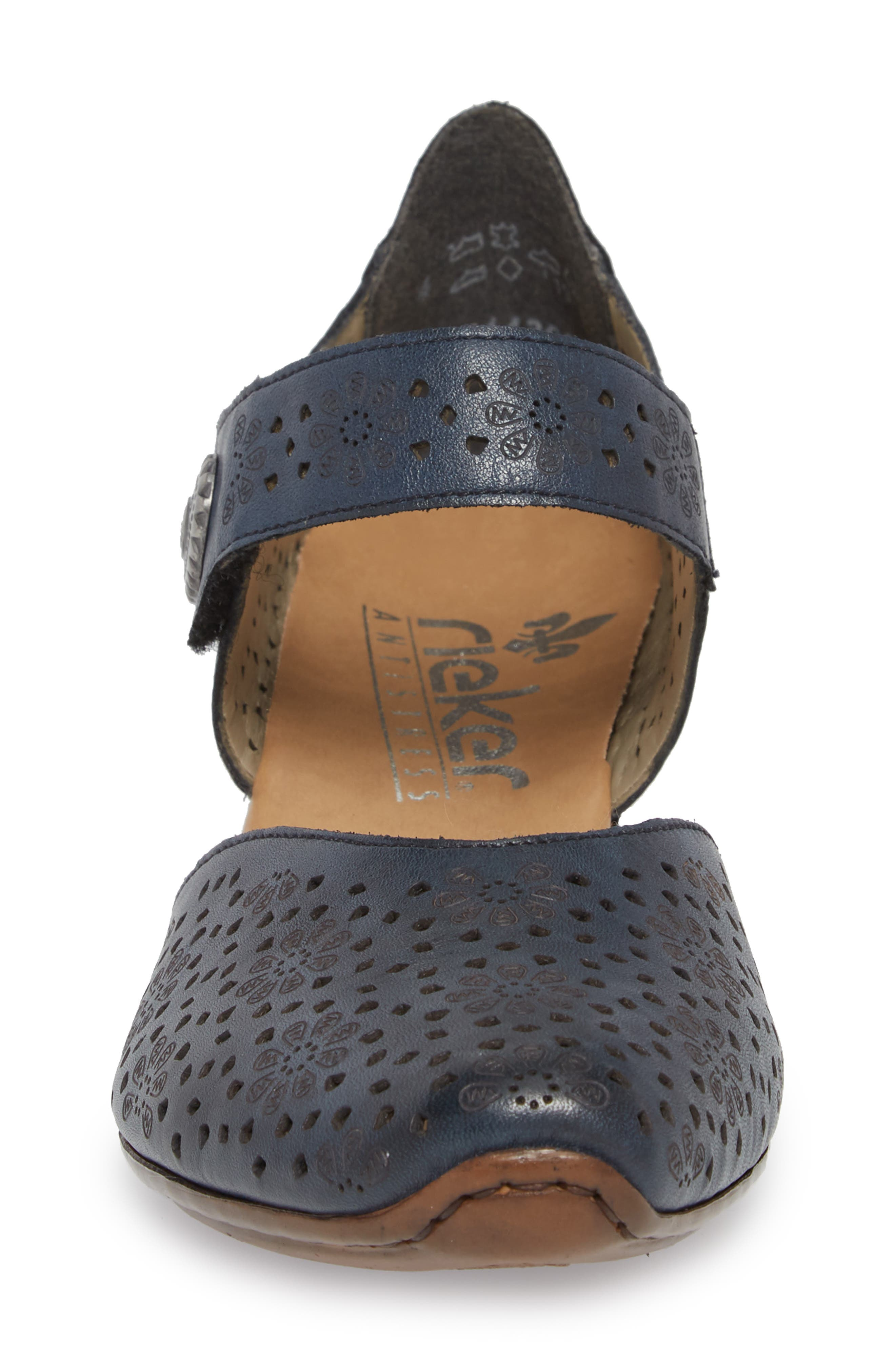'Mirjam 11' Two-Piece Pump,                             Alternate thumbnail 4, color,                             Lake/ Royal Leather