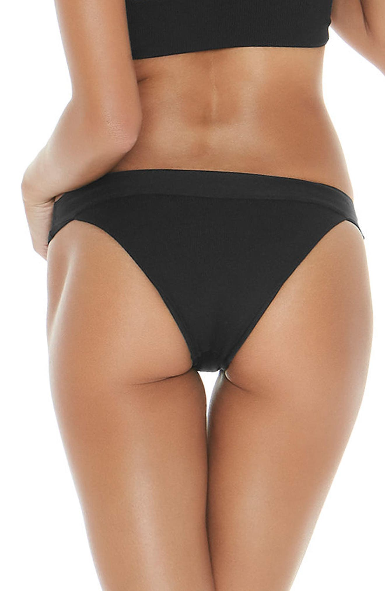 Alternate Image 2  - L Space Veronica Ribbed Bikini Bottoms
