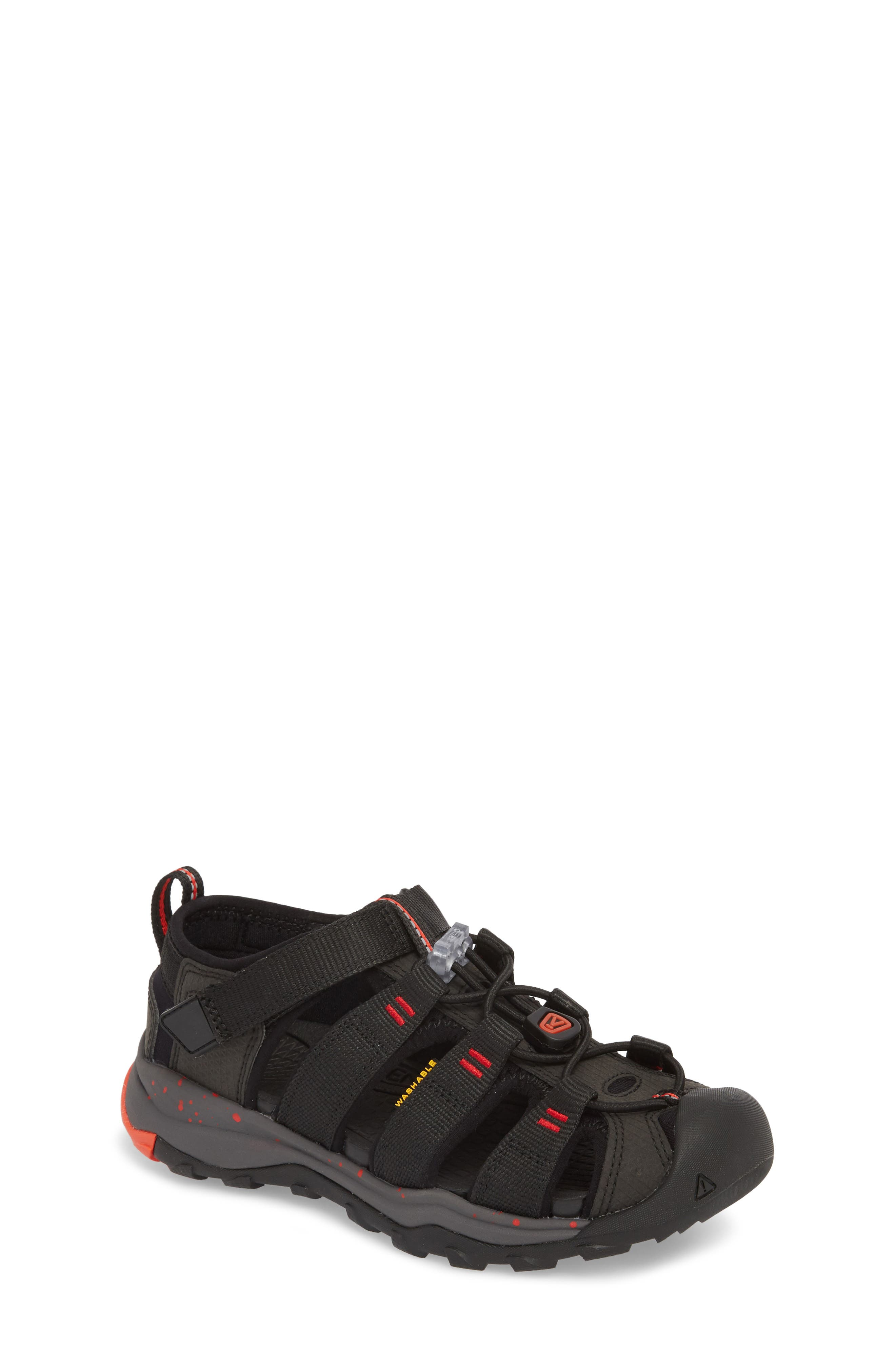 Newport Neo H2 Water Friendly Sandal,                             Main thumbnail 1, color,                             Black/ Fiery Red