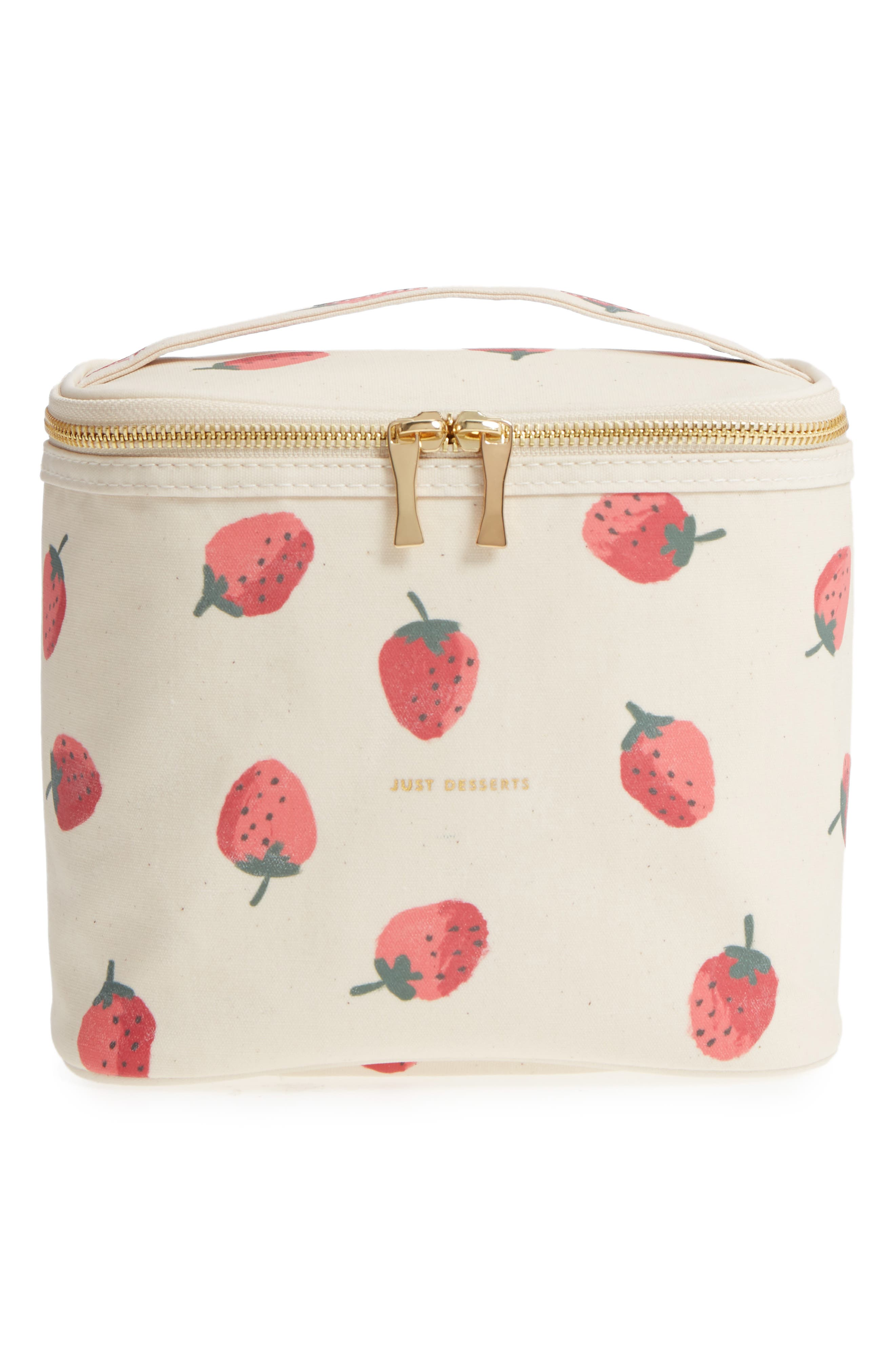 strawberry lunch tote,                         Main,                         color, Strawberry