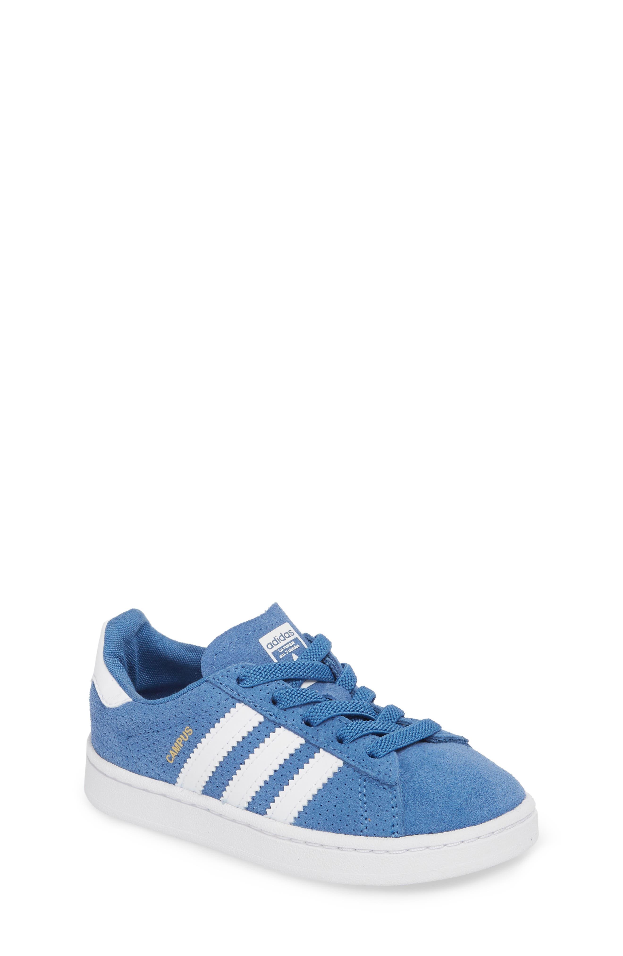 Campus J Sneaker,                             Main thumbnail 1, color,                             Trace Royal / White / White