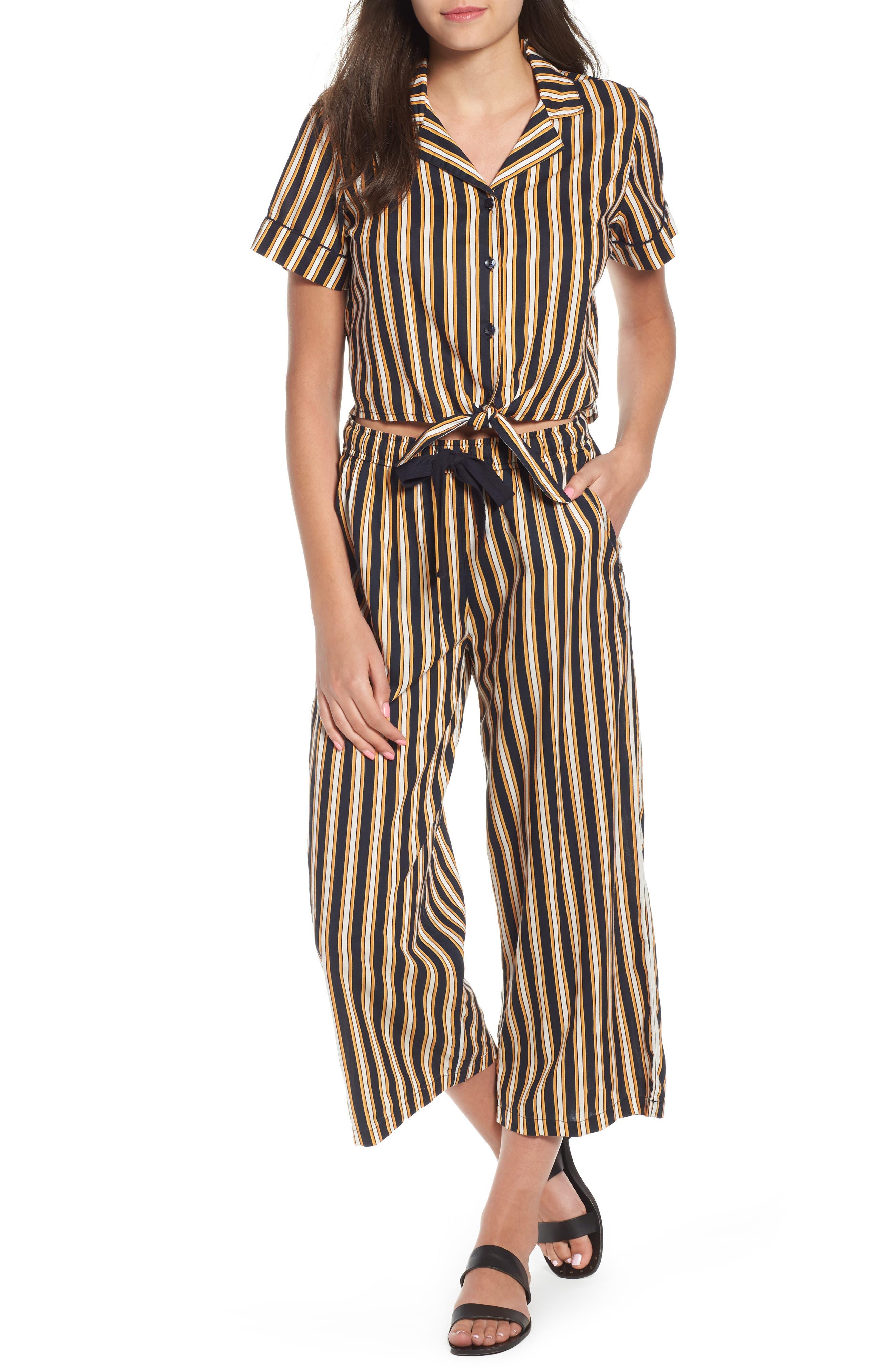 Stoney Stripe Pants,                             Alternate thumbnail 2, color,                             Navy Sea
