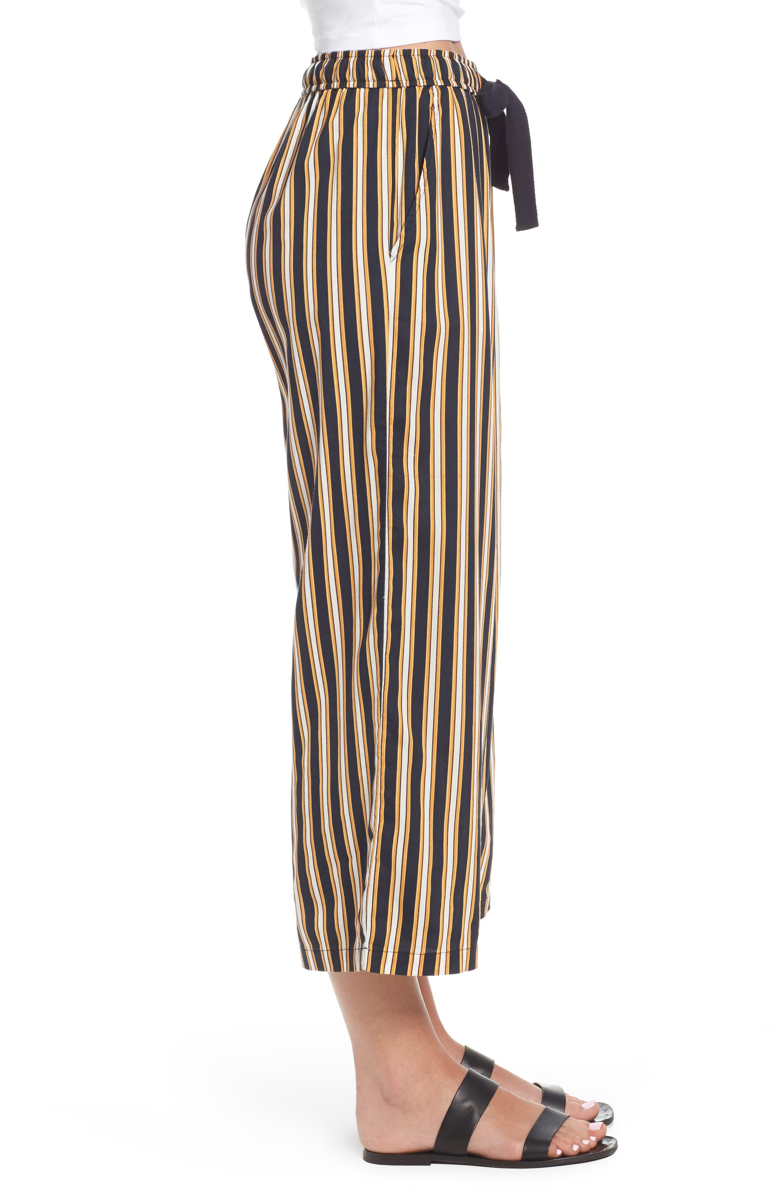 Stoney Stripe Pants,                             Alternate thumbnail 4, color,                             Navy Sea