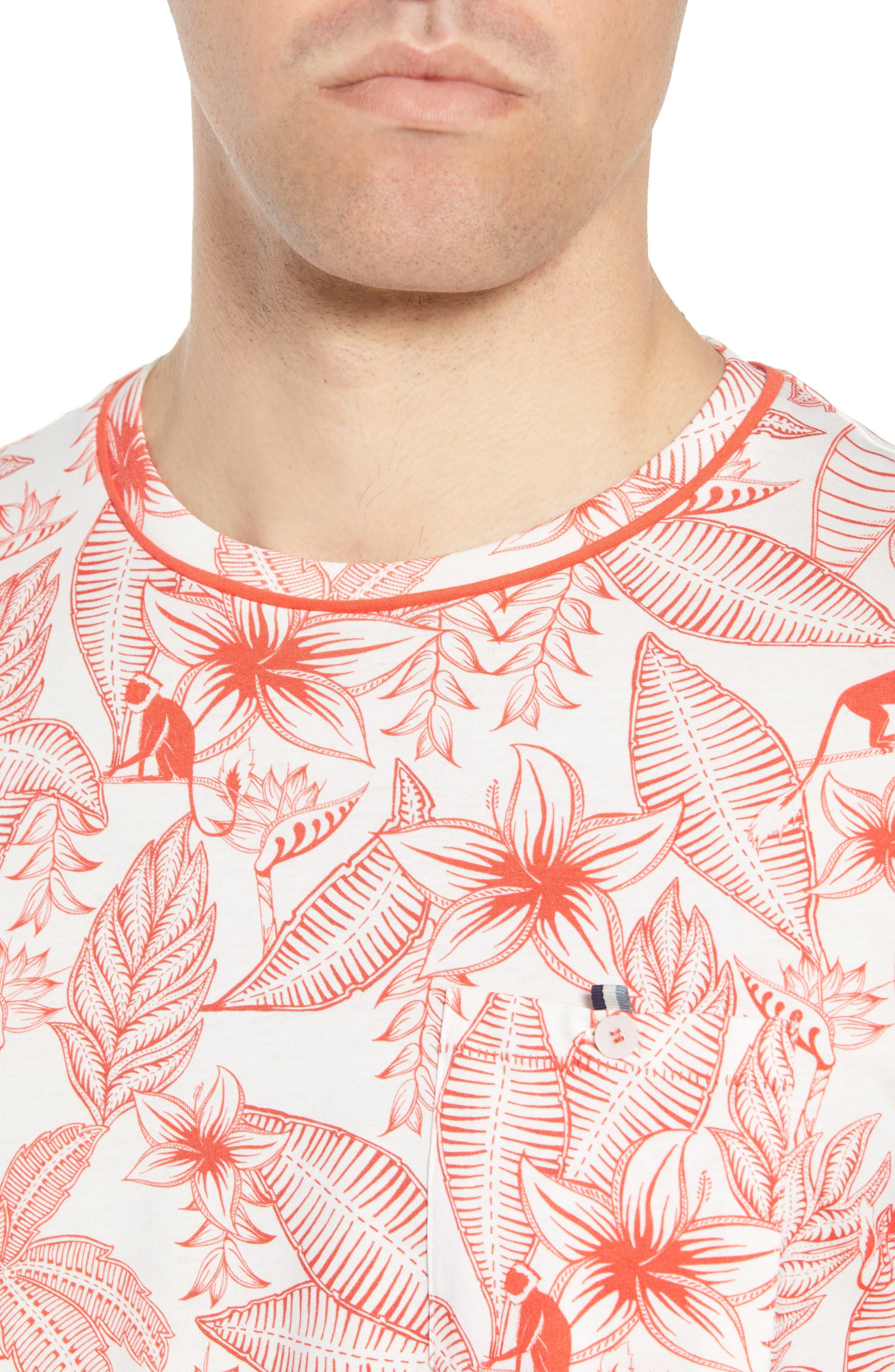 Bengel Crewneck T-Shirt,                             Alternate thumbnail 4, color,                             Red