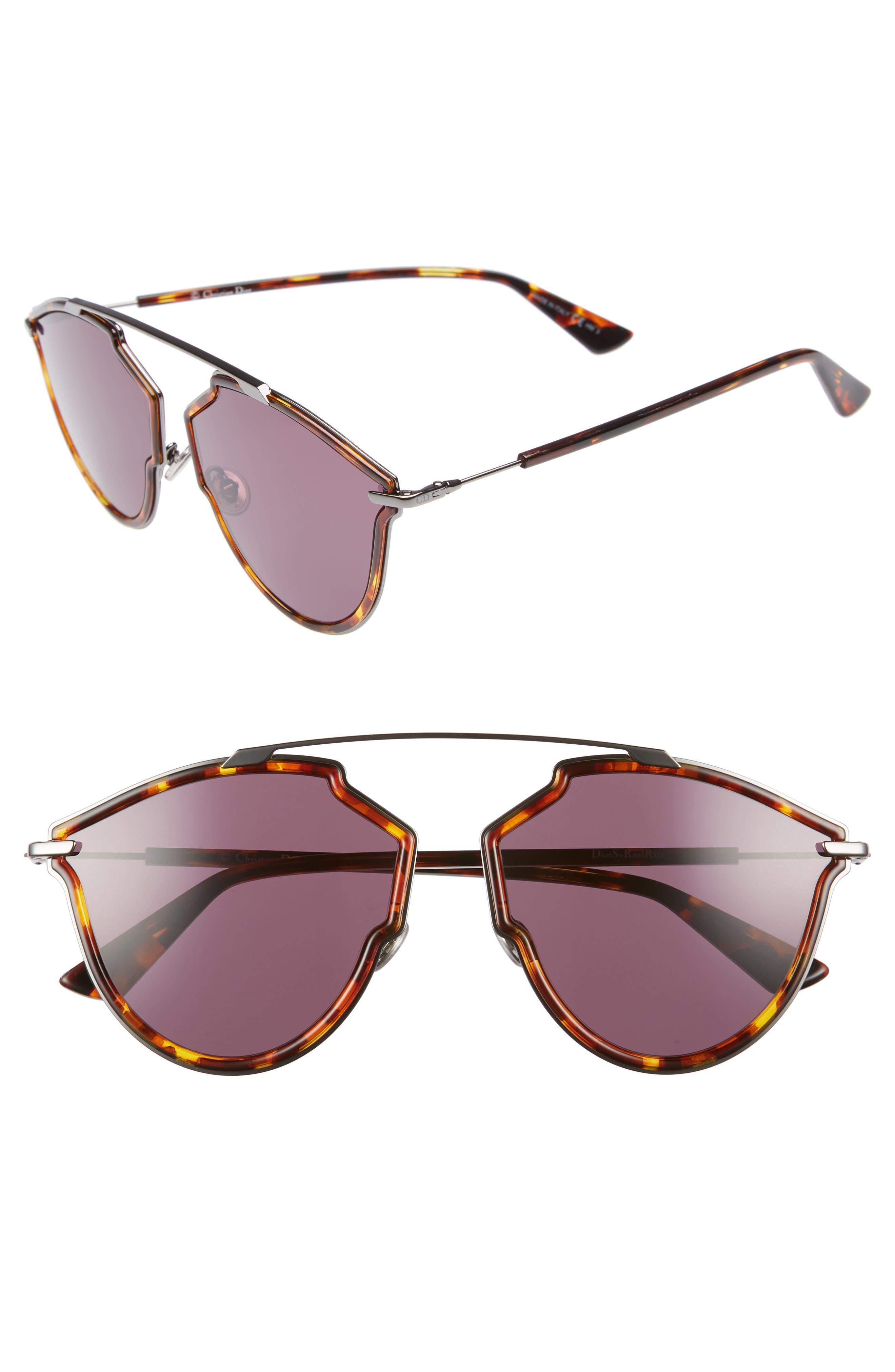 Christian Dior 58mm Round Sunglasses