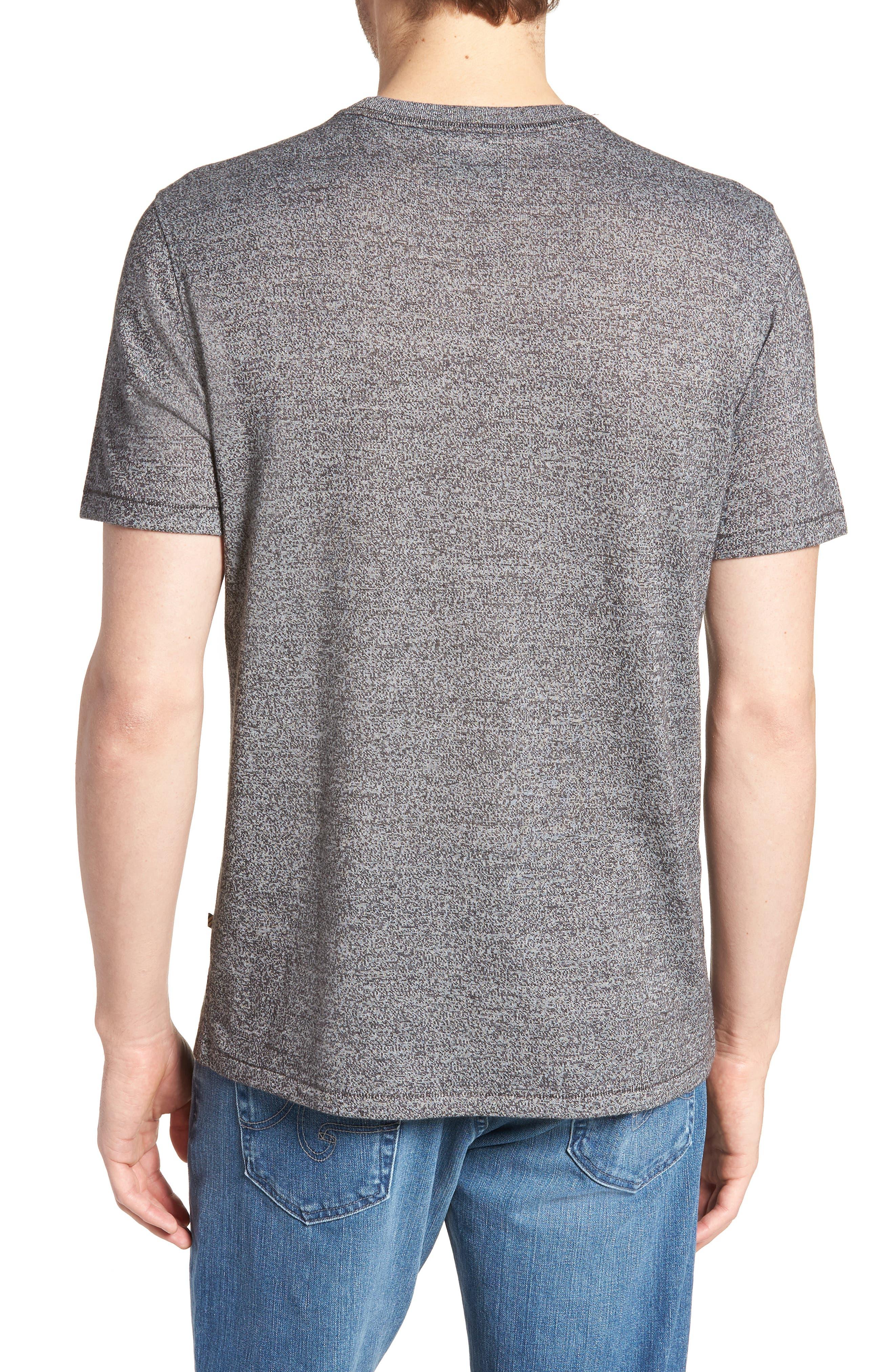 Mouline Pocket T-Shirt,                             Alternate thumbnail 2, color,                             Dark Grey