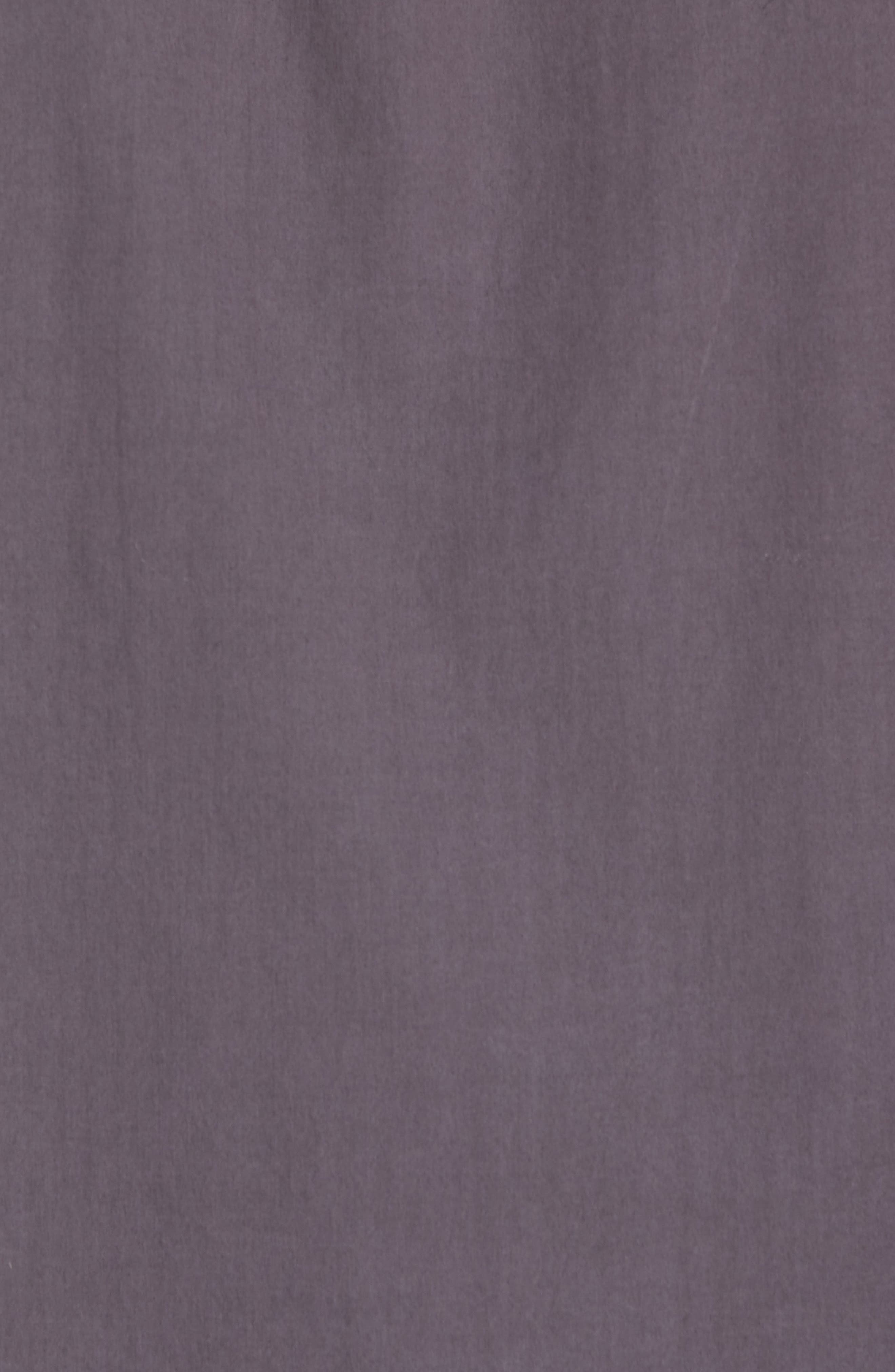 Regular Fit Poplin Sport Shirt,                             Alternate thumbnail 5, color,                             Workwear Grey