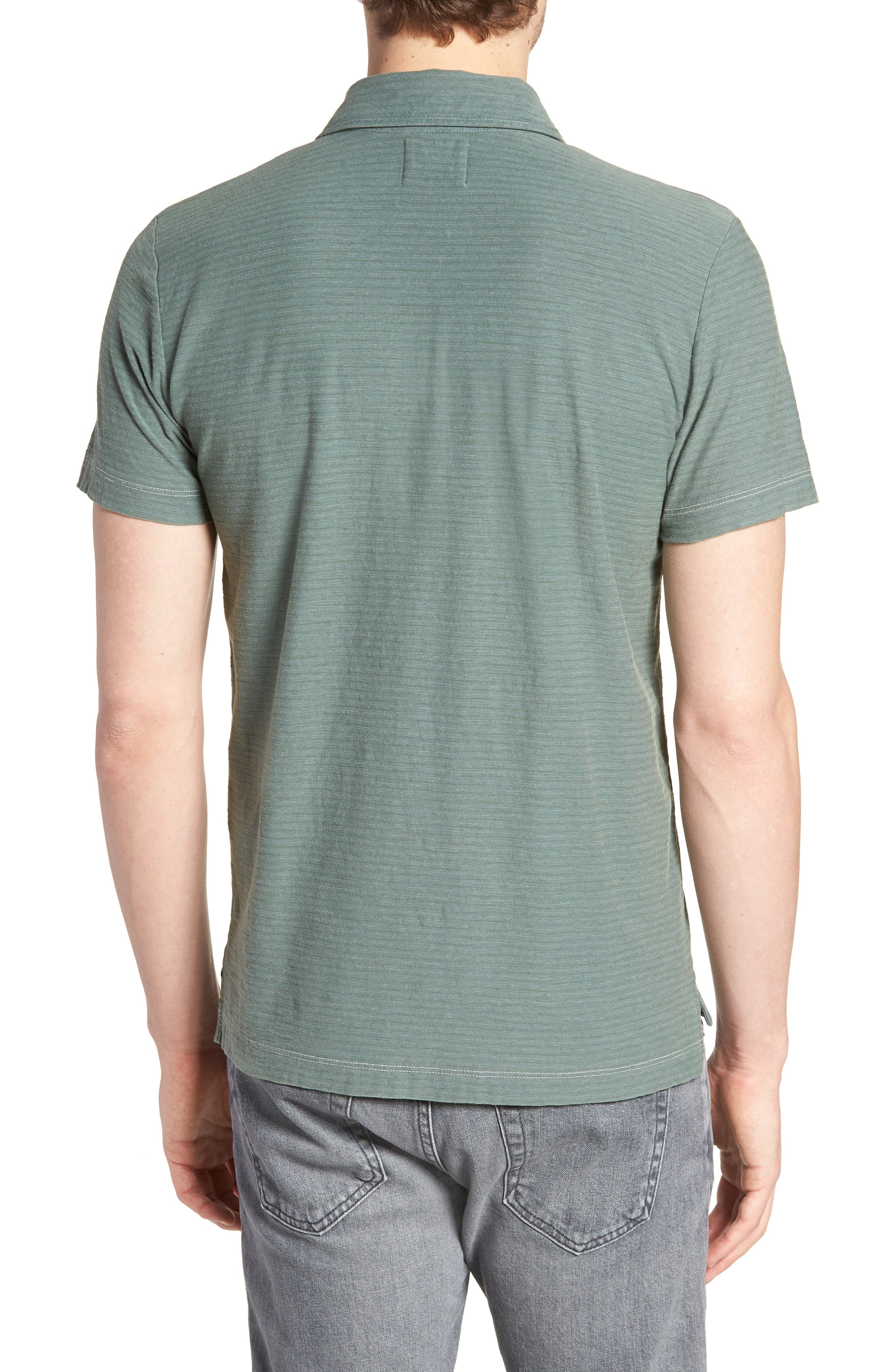 Pensacola Cotton Blend Polo Shirt,                             Alternate thumbnail 2, color,                             Sage