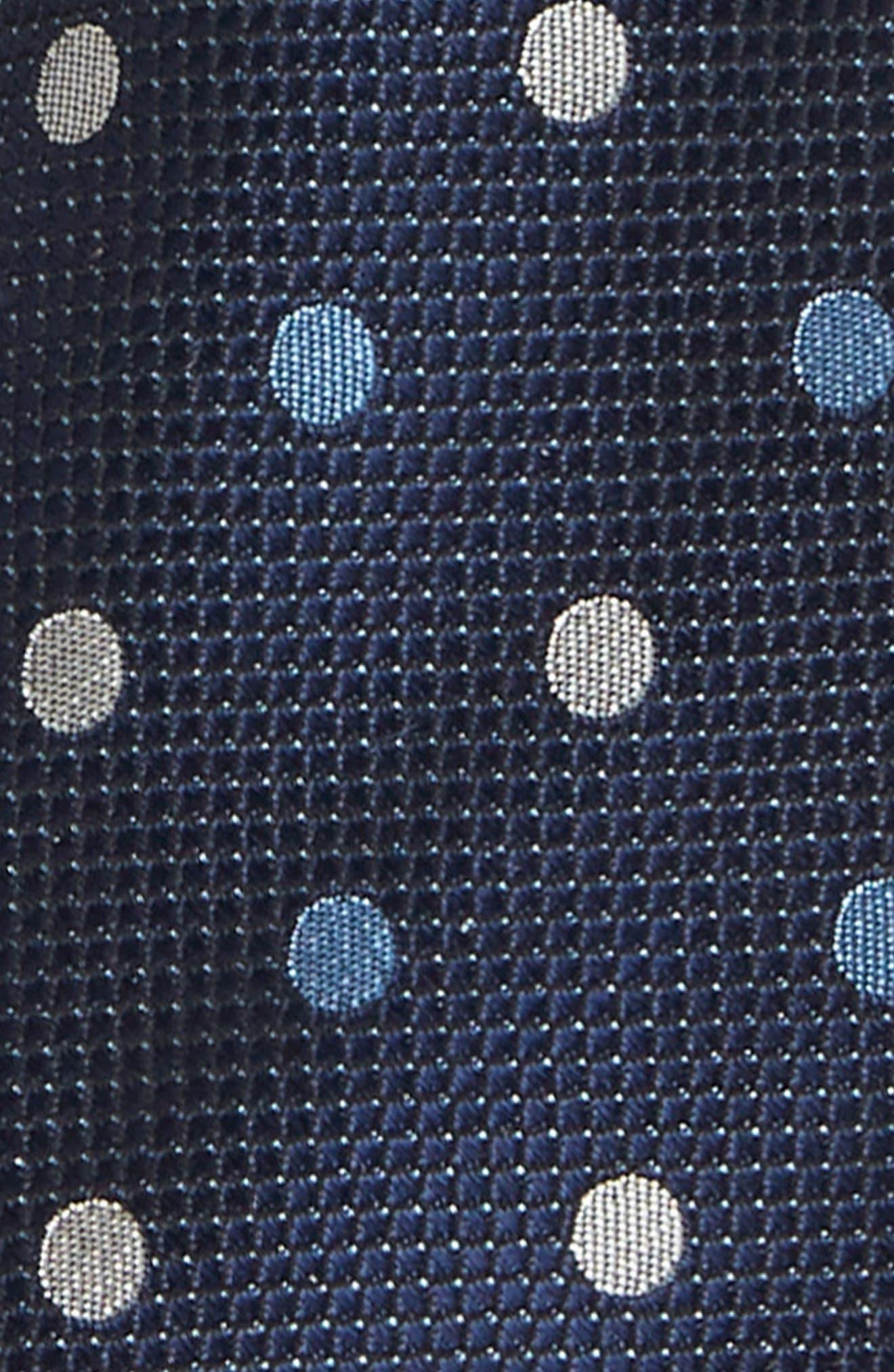Polka Dot Silk Tie,                             Alternate thumbnail 2, color,                             411