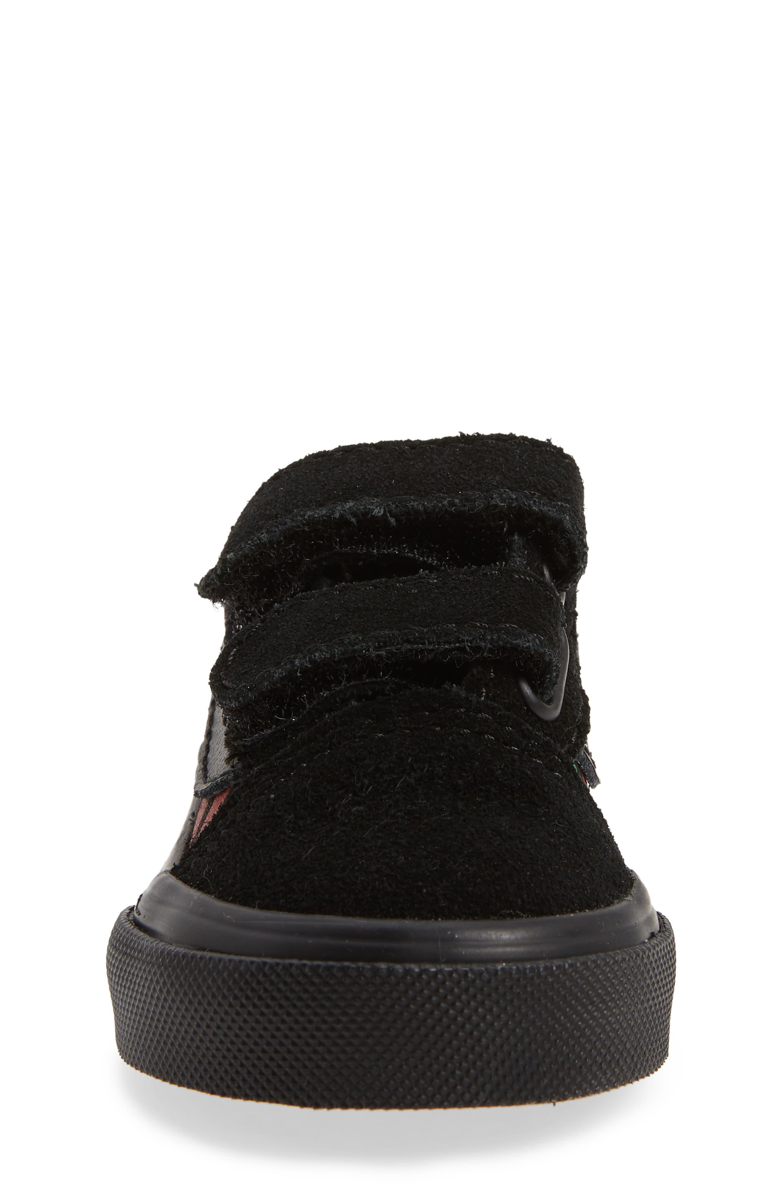 Old Skool V Sneaker,                             Alternate thumbnail 4, color,                             Black