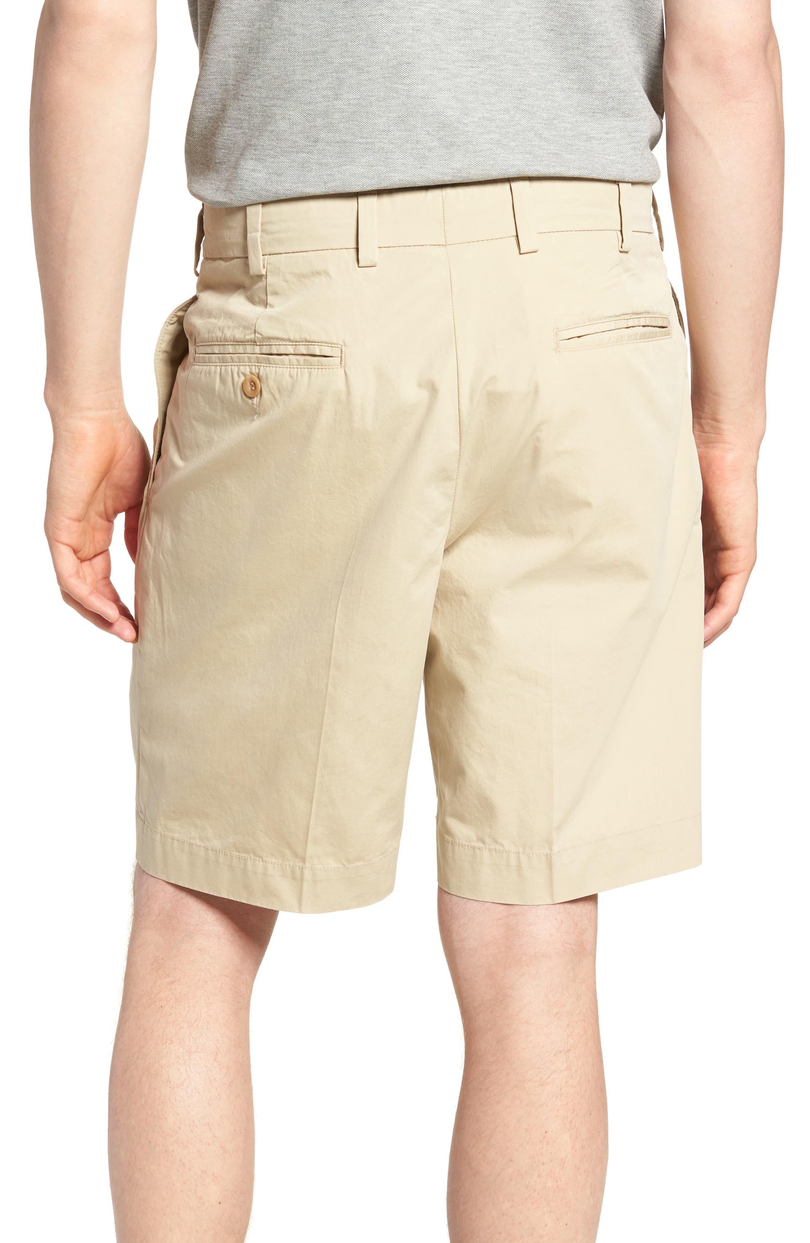 M2 Classic Fit Pleated Tropical Cotton Poplin Shorts,                             Alternate thumbnail 2, color,                             Khaki