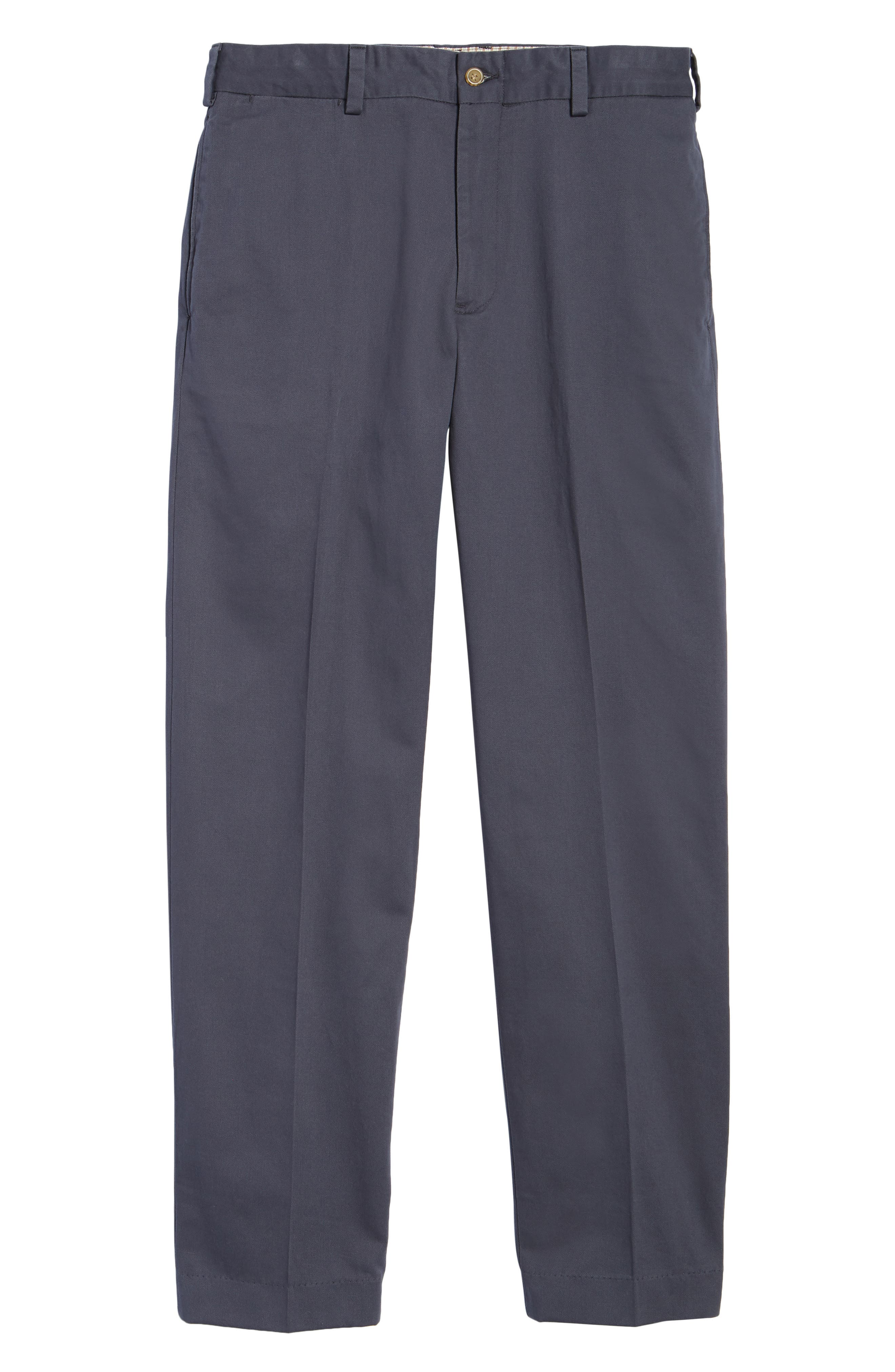 M2 Classic Fit Flat Front Vintage Twill Pants,                             Alternate thumbnail 6, color,                             Navy