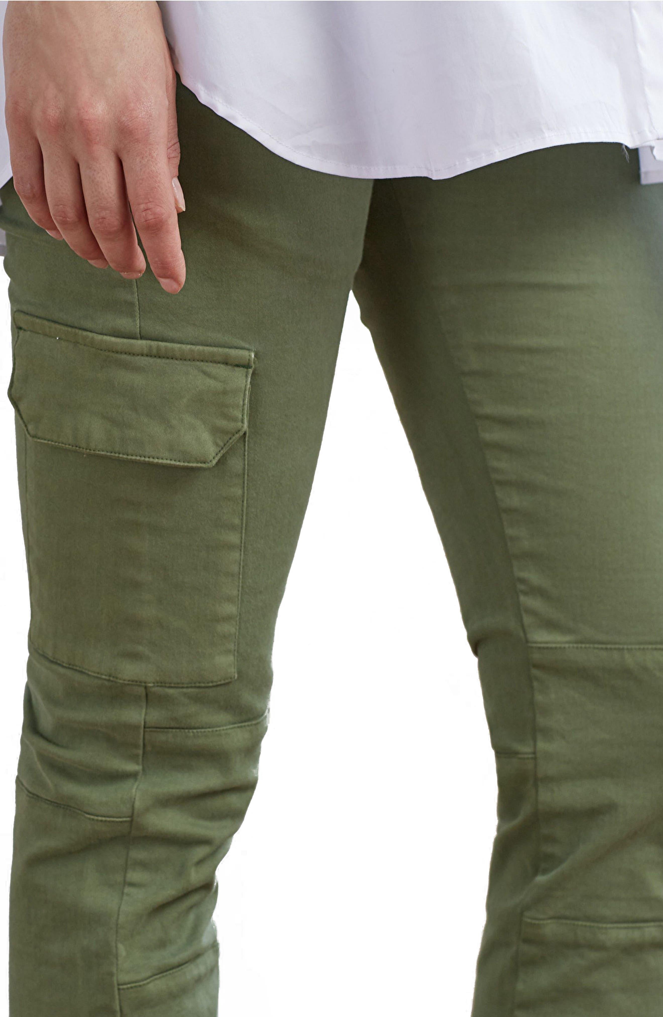 Maternity Cargo Pants,                             Alternate thumbnail 4, color,                             Dusted Khaki