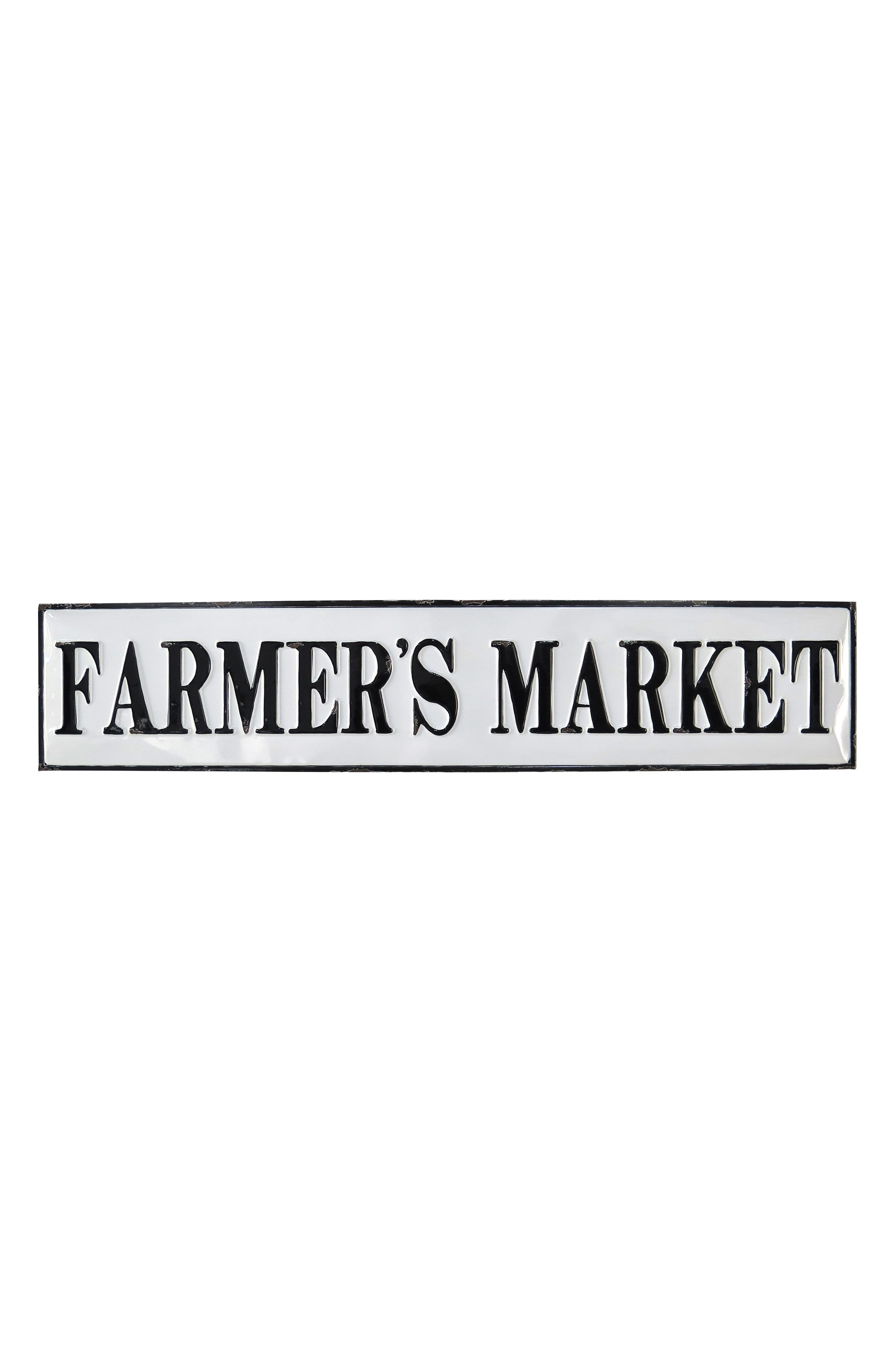 Farmer's Market Wall Plaque,                         Main,                         color, Metal