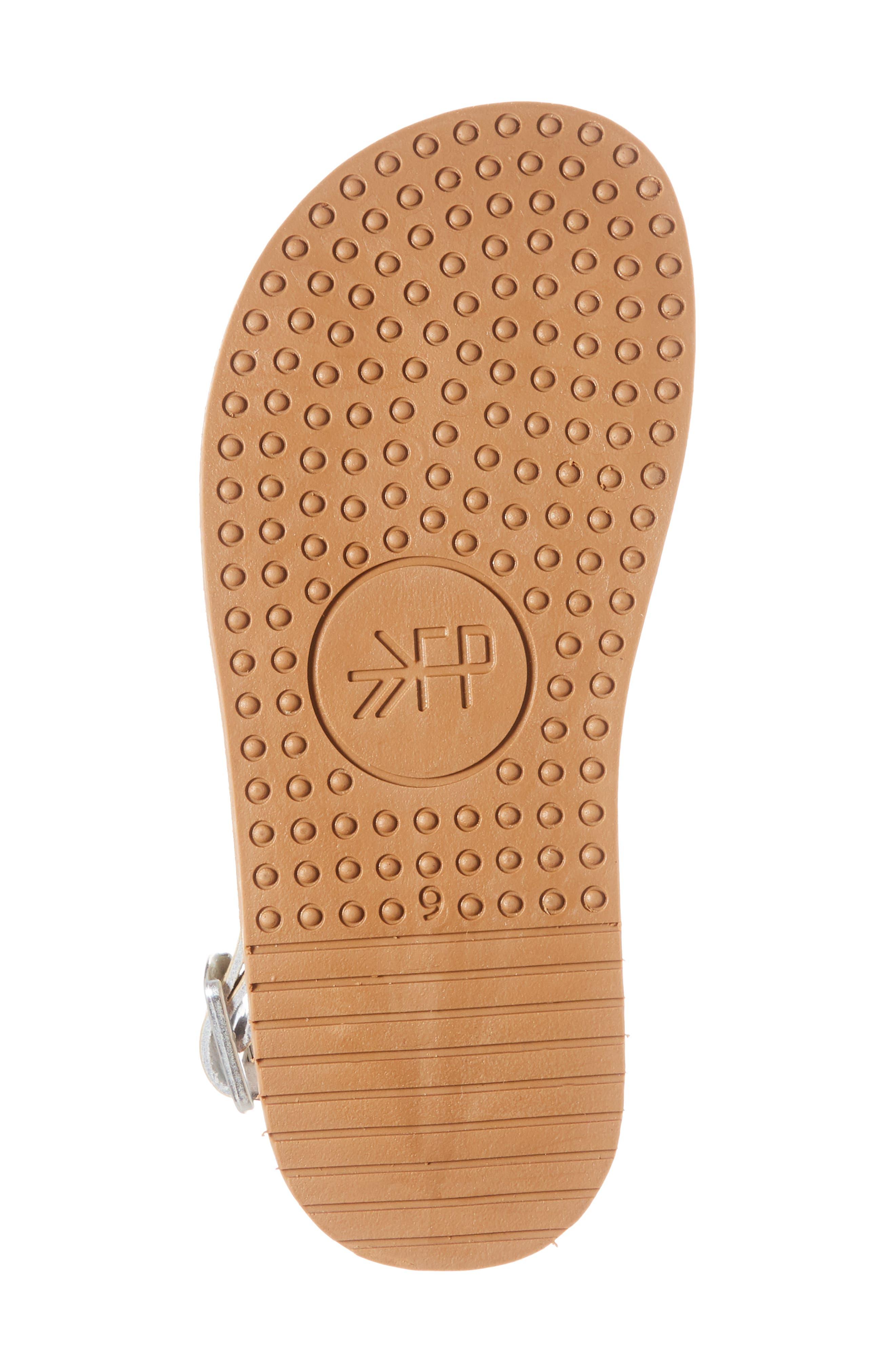 Laguna Water Resistant Perforated Sandal,                             Alternate thumbnail 6, color,                             Platinum