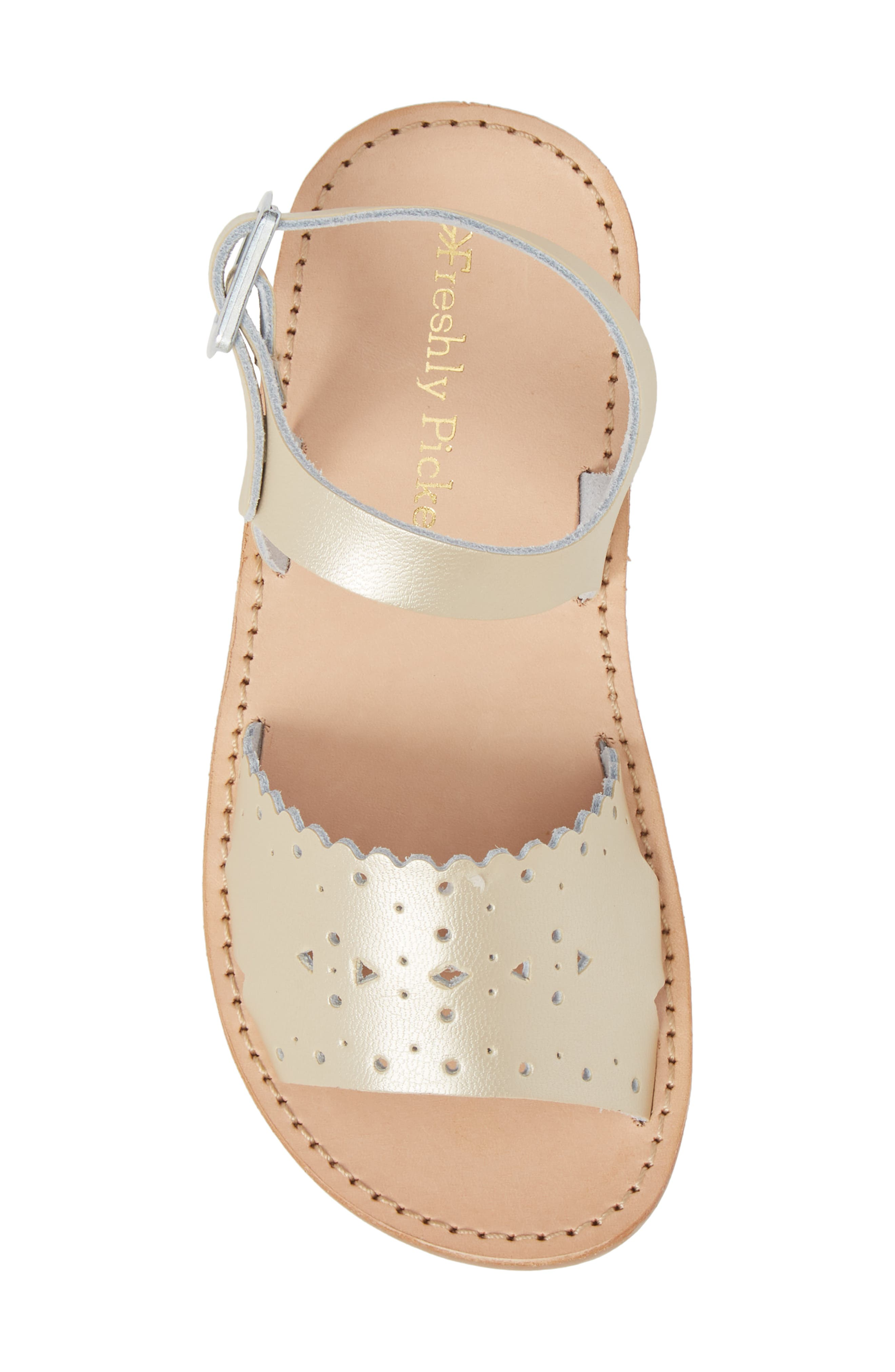 Laguna Water Resistant Perforated Sandal,                             Alternate thumbnail 5, color,                             Platinum