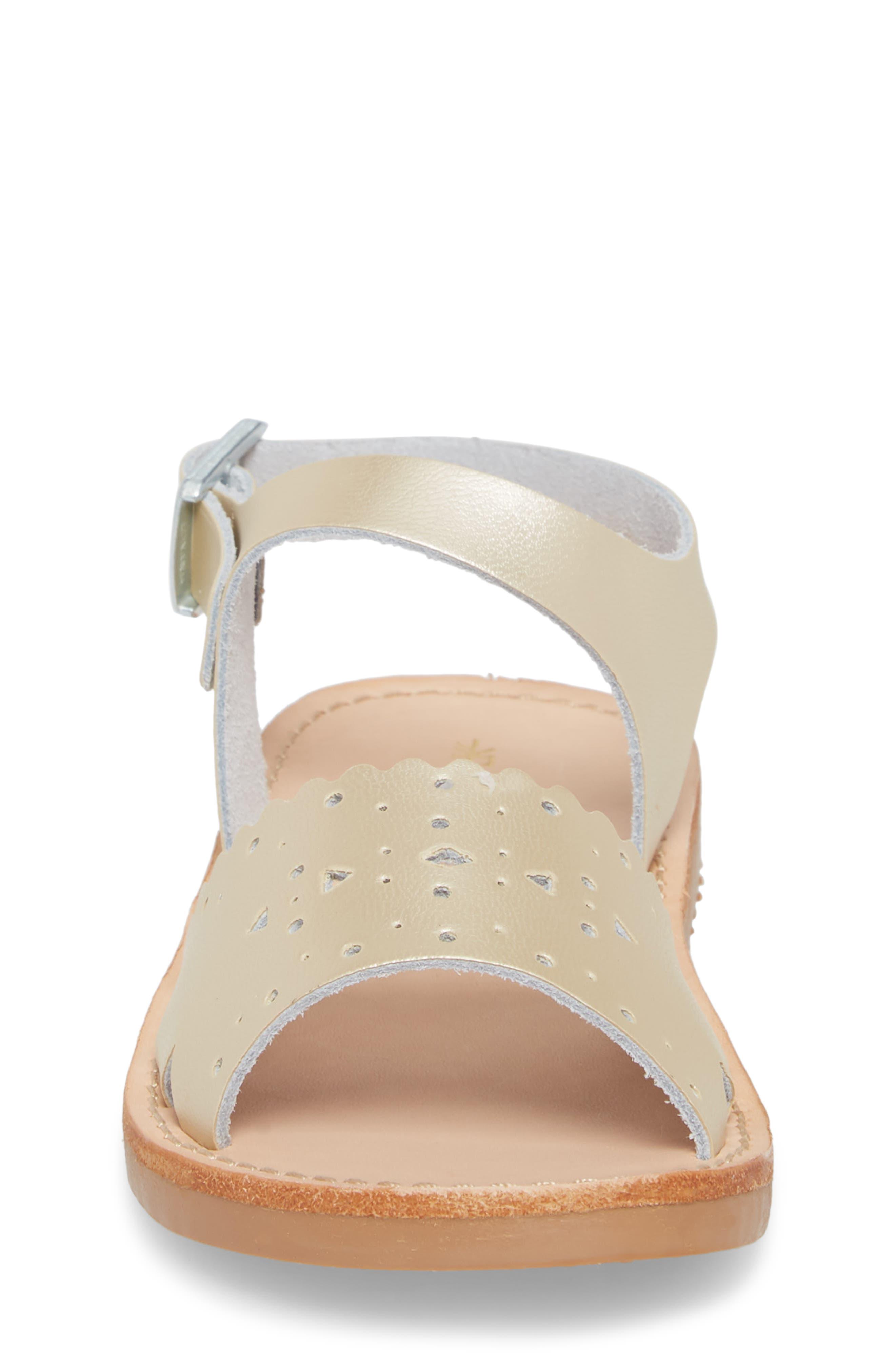 Laguna Water Resistant Perforated Sandal,                             Alternate thumbnail 4, color,                             Platinum