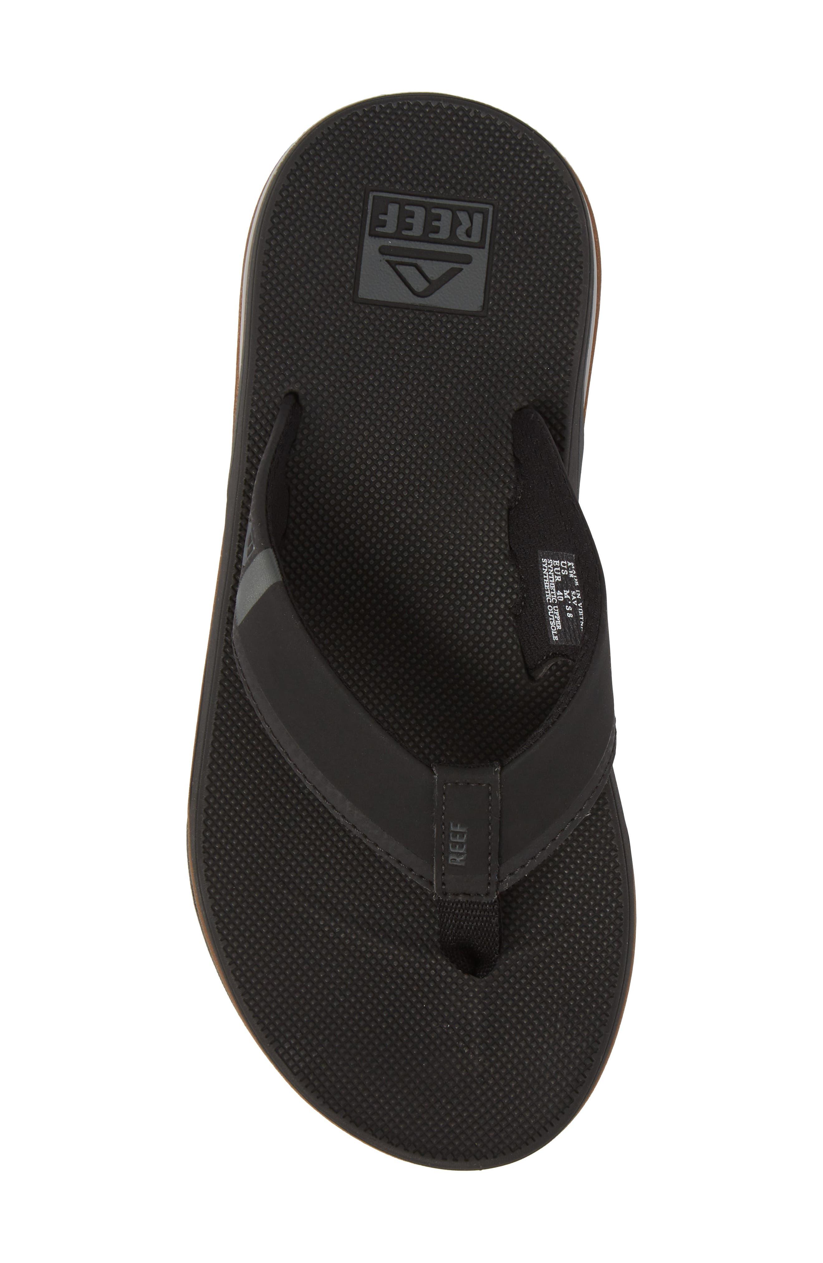 Fanning Low Flip Flop,                             Alternate thumbnail 5, color,                             Black