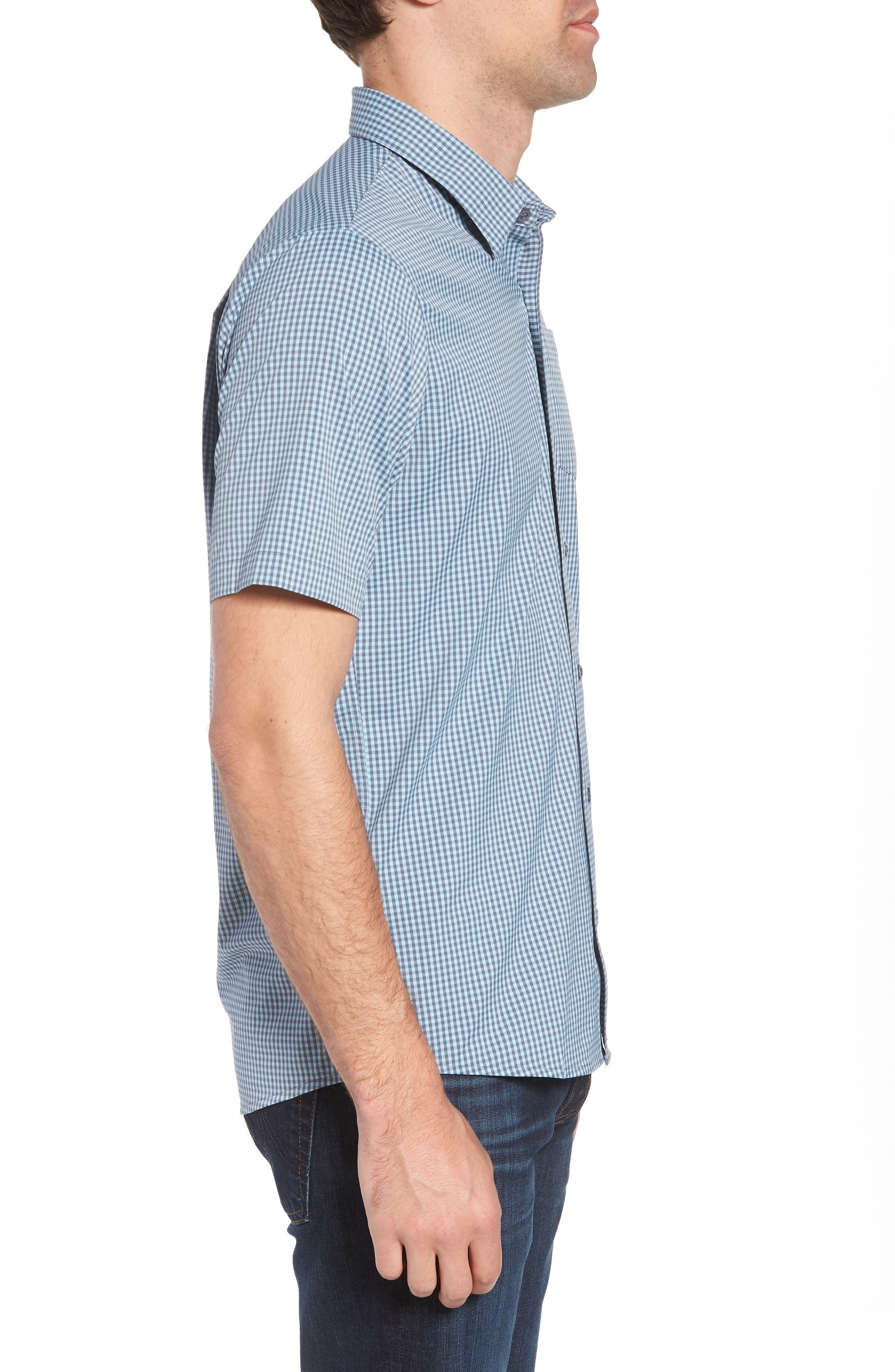 Gygax Regular Fit Sport Shirt,                             Alternate thumbnail 4, color,                             Porcelain Blue