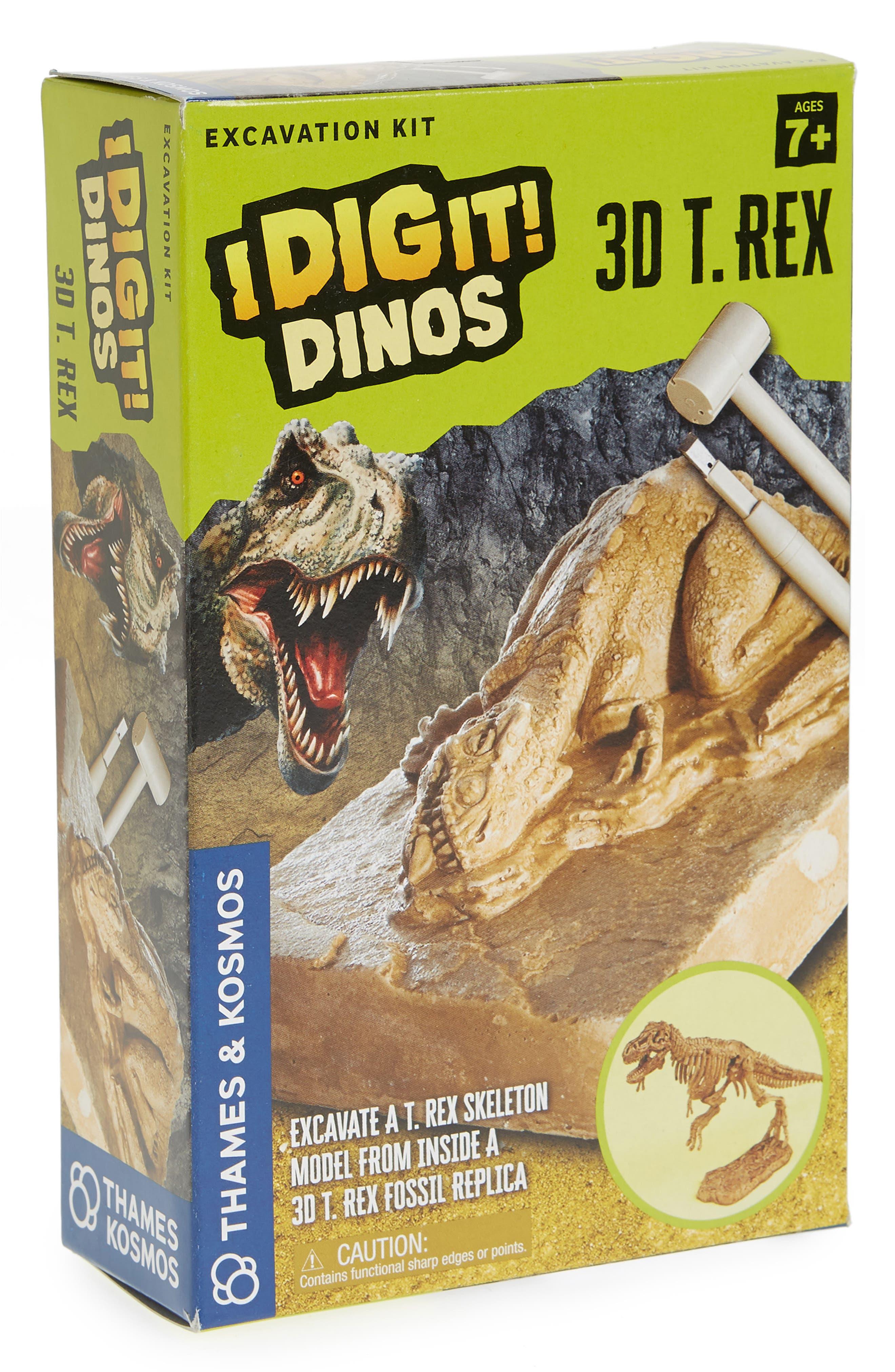 I Dig It! 17-Piece 3D T-Rex Excavation Kit,                             Main thumbnail 1, color,                             Beige