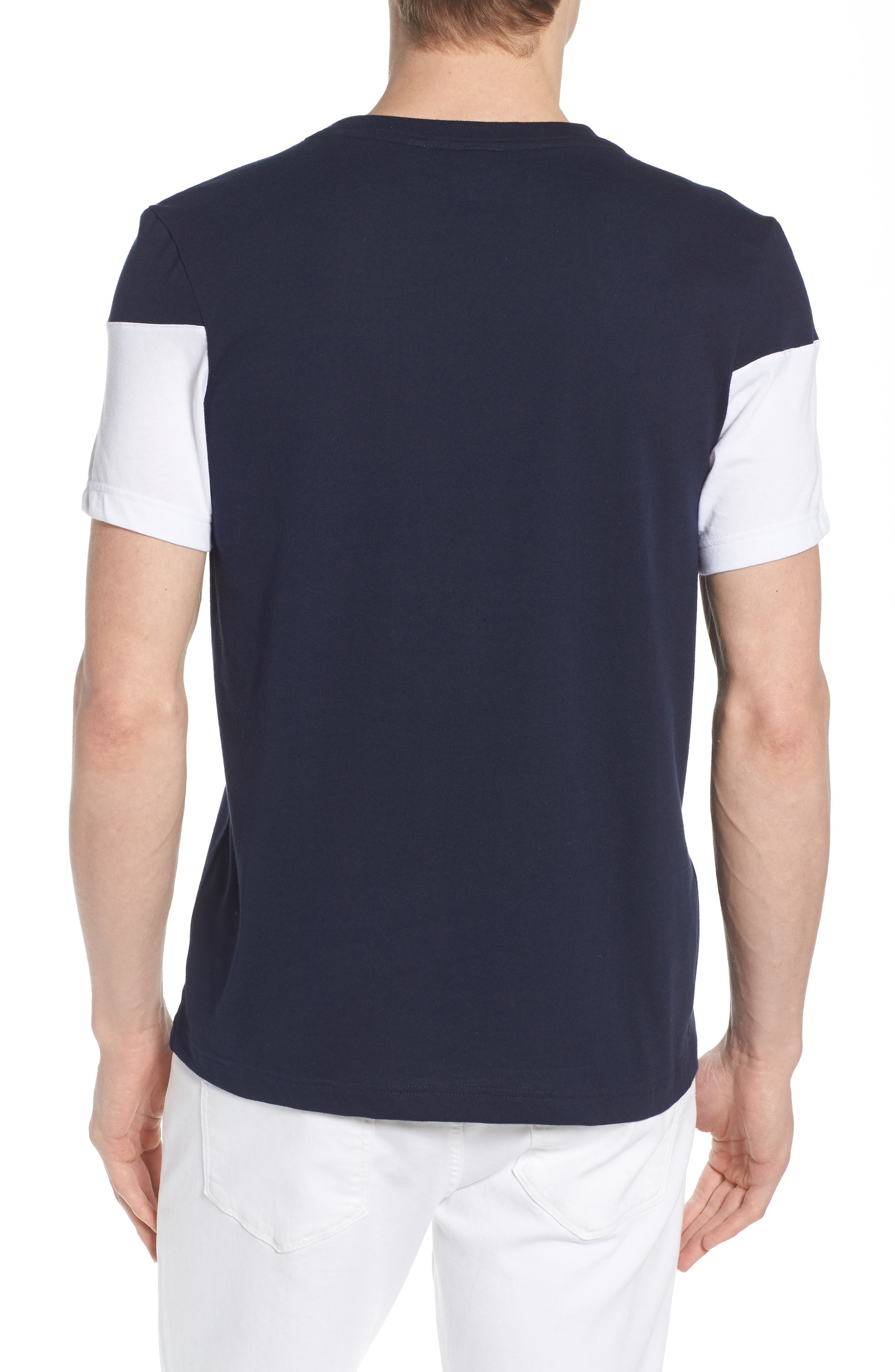 Tennis Anyone Tech Jersey T-Shirt,                             Alternate thumbnail 2, color,                             Navy Blue/ White