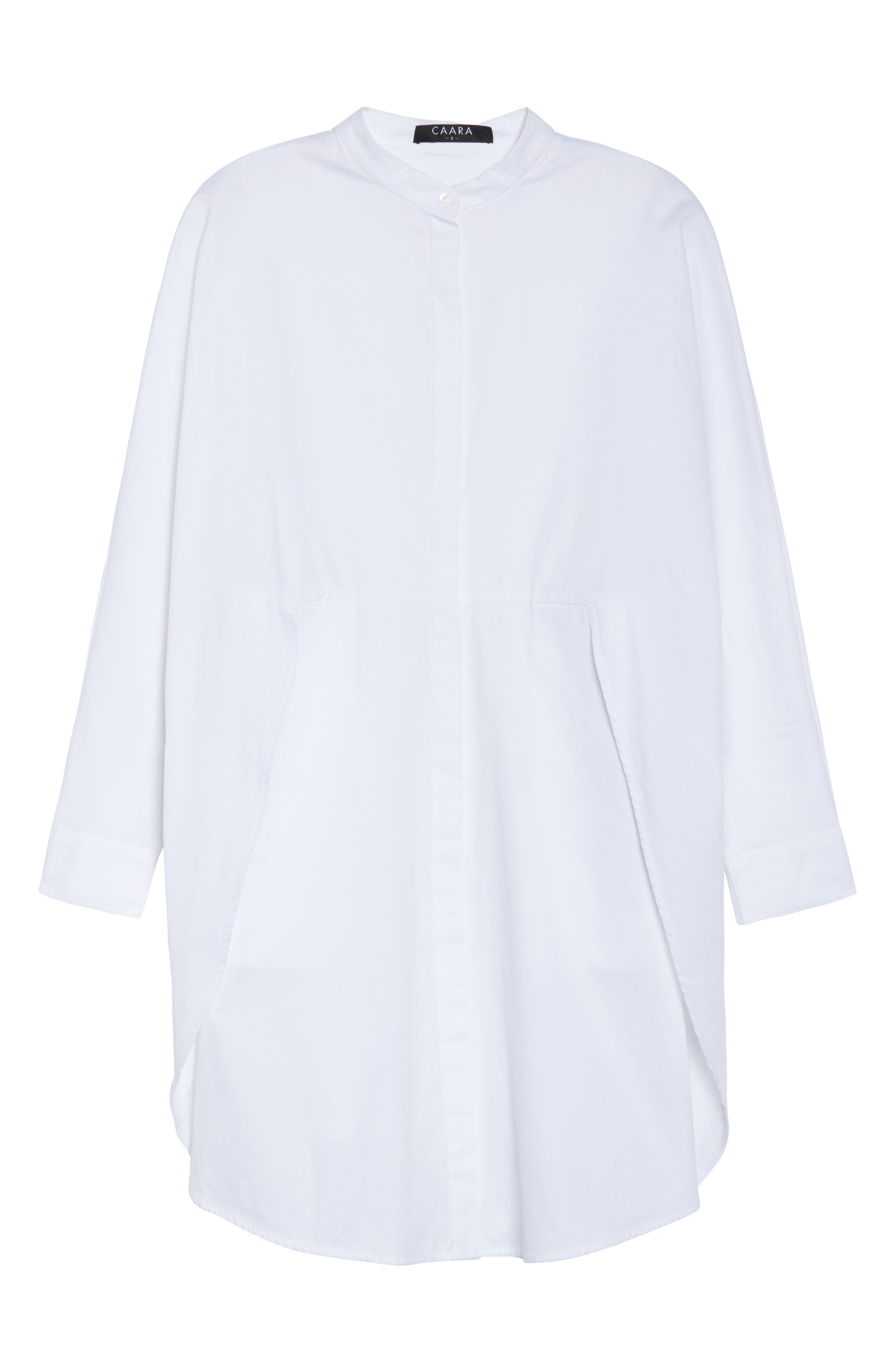 Boyfriend Shirtdress,                             Alternate thumbnail 7, color,                             White