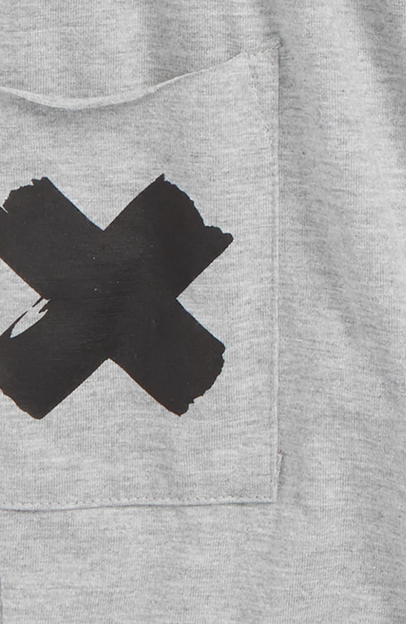 Sleeveless Hooded Romper,                             Alternate thumbnail 2, color,                             X Grey