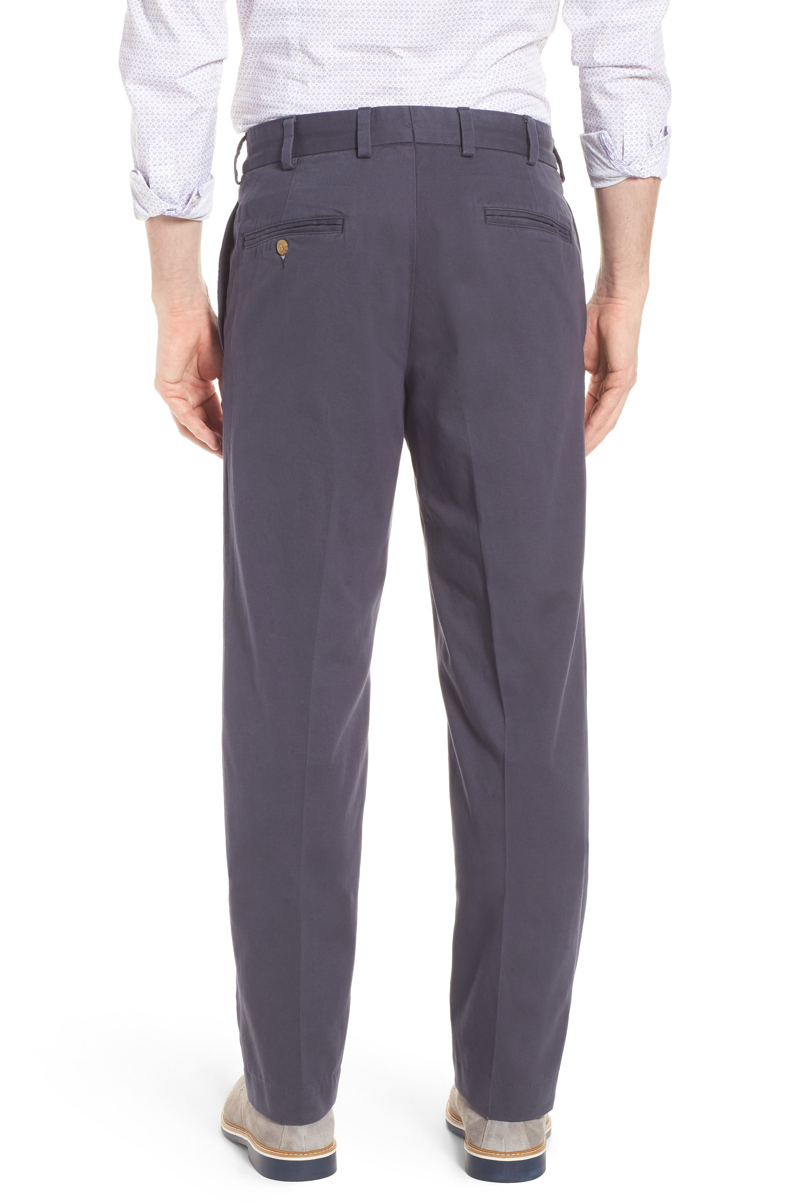 M2 Classic Fit Flat Front Vintage Twill Pants,                             Alternate thumbnail 2, color,                             Navy
