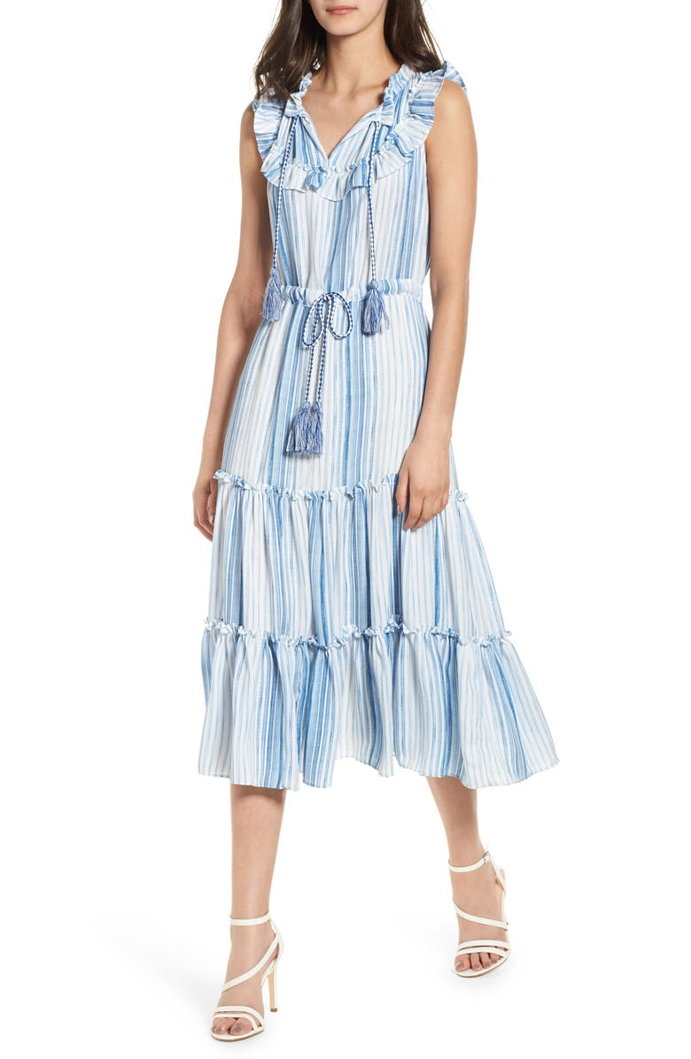Aleja Stripe Midi Dress