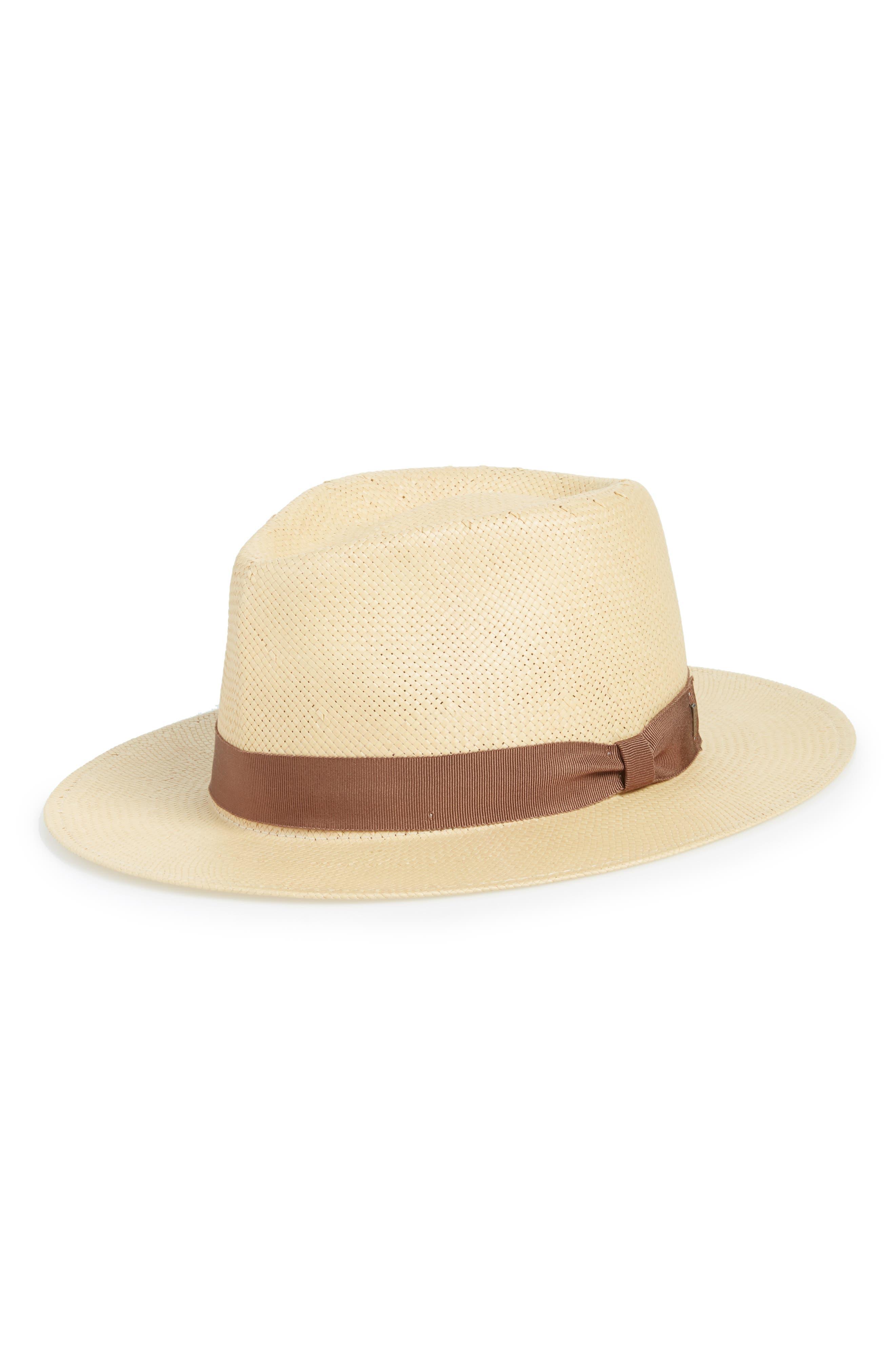 Pencer Straw Panama Hat,                             Main thumbnail 1, color,                             Sandbar
