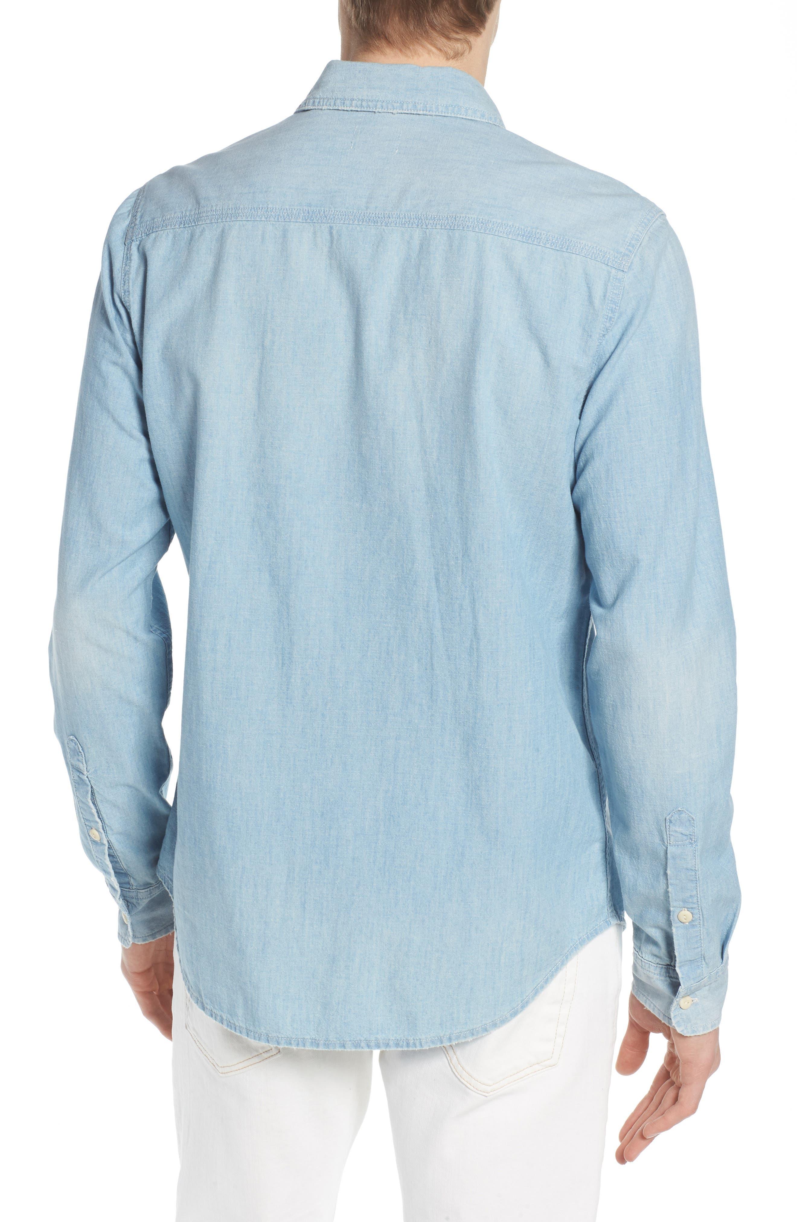 Benning Regular Fit Sport Shirt,                             Alternate thumbnail 3, color,                             Roadstead