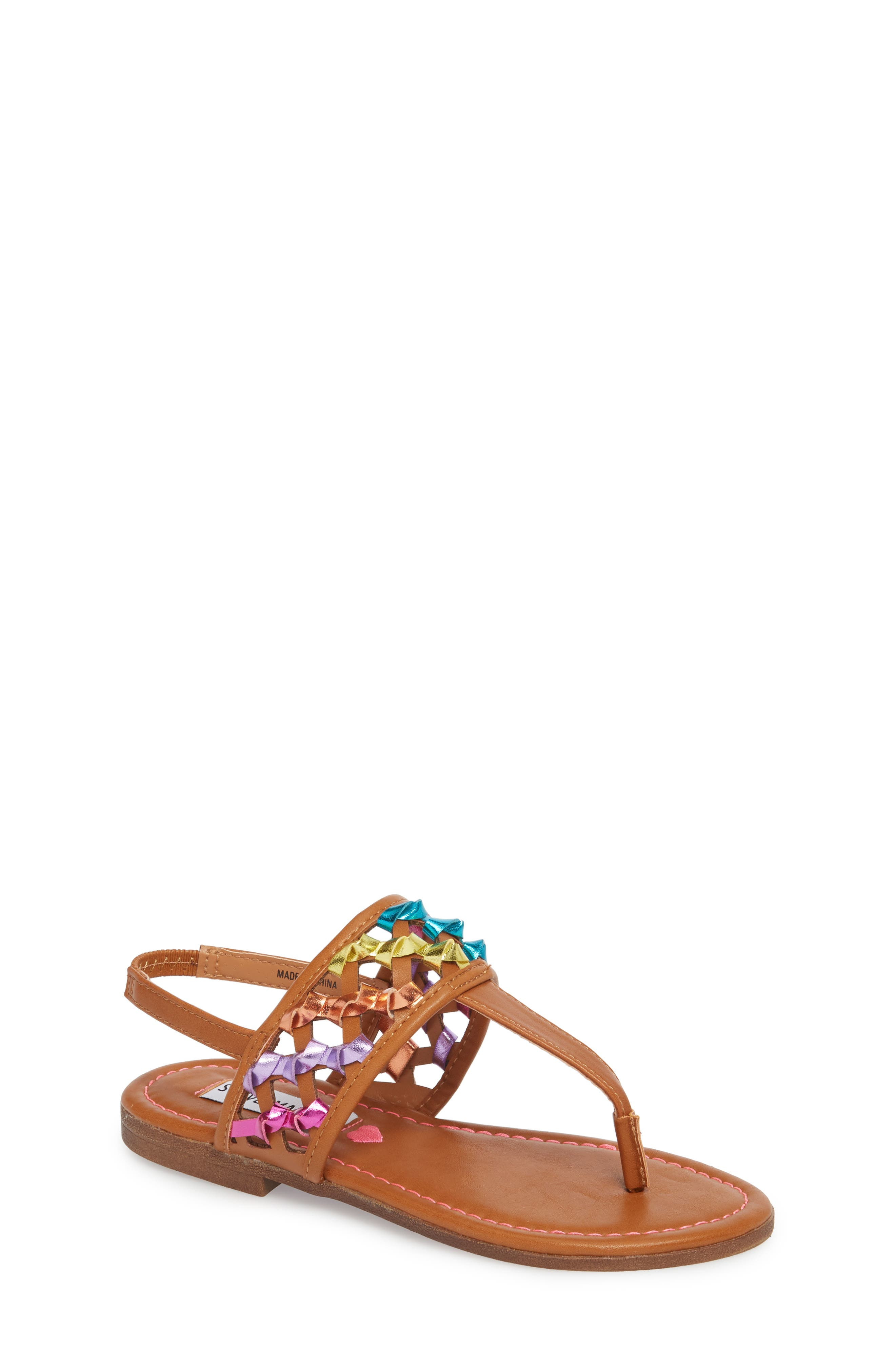 Steve Madden JTWIZZLE Knotted T-Strap Sandal (Little Kid & Big Kid)