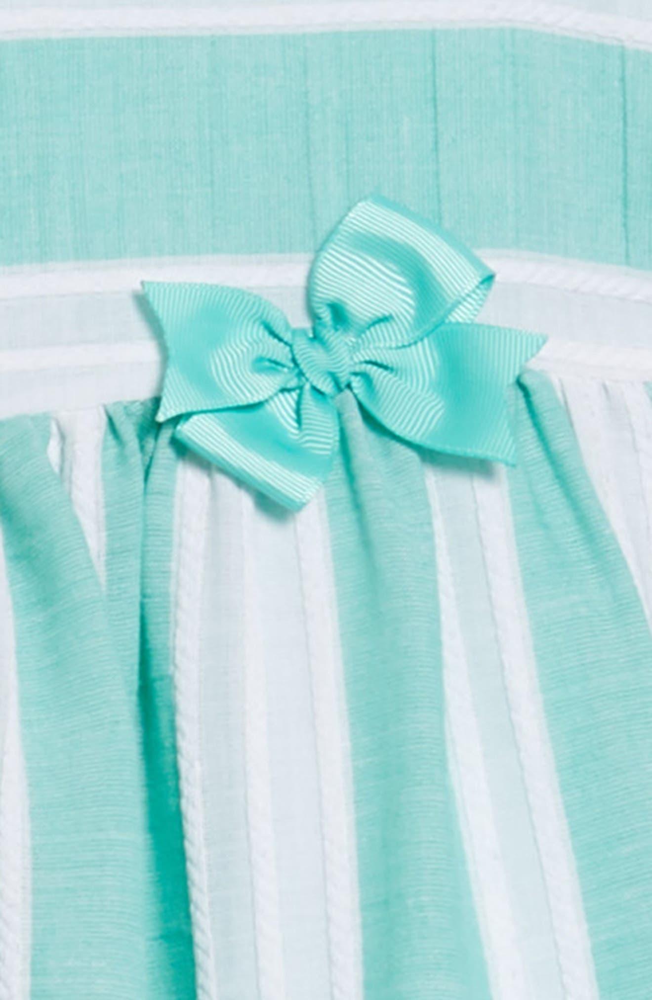 Stripe Dress,                             Alternate thumbnail 3, color,                             Green/ White