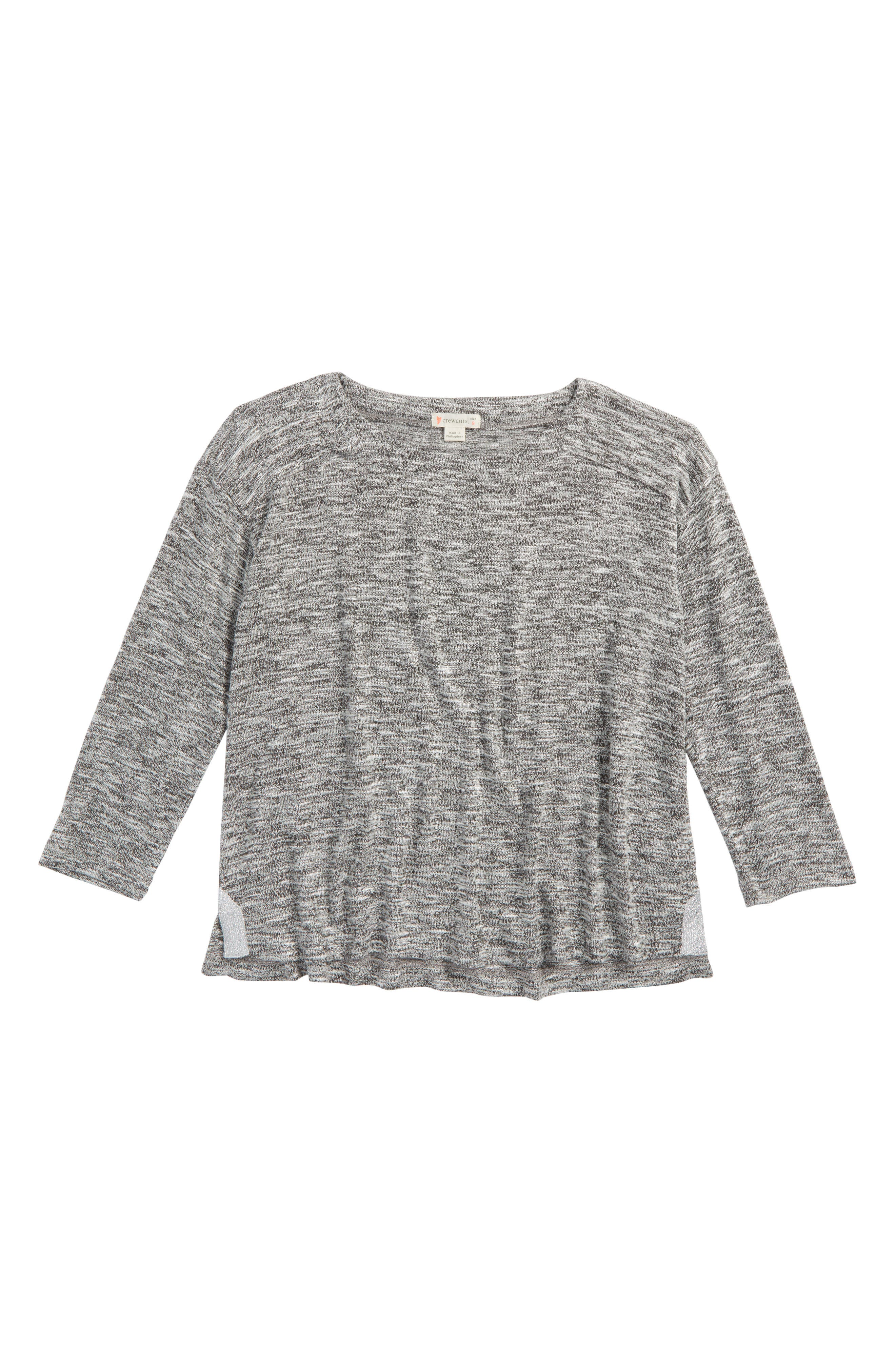 Marled Tee,                         Main,                         color, Speckled Light Gray
