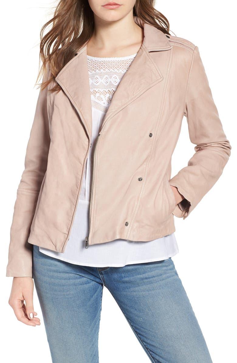 Feminine Leather Moto Jacket