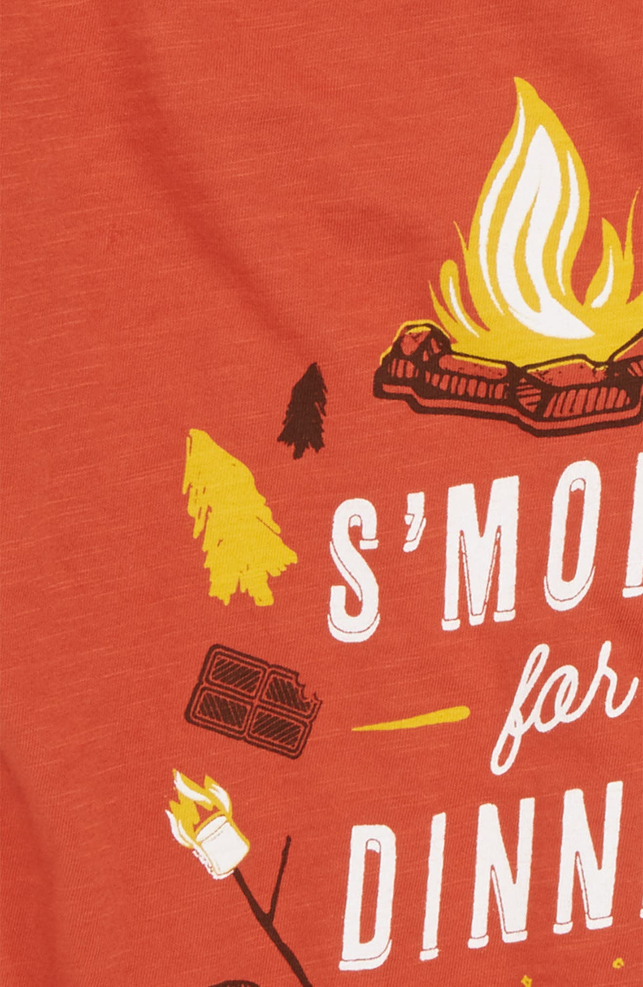 S'mores Graphic T-Shirt,                             Alternate thumbnail 2, color,                             Orange