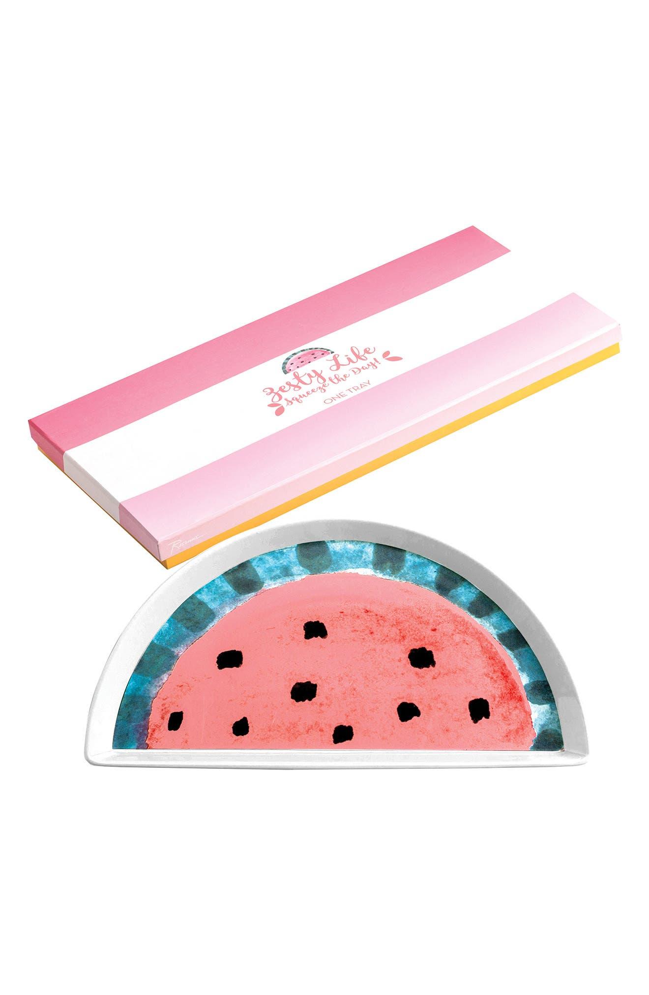 Watermelon Tray,                             Main thumbnail 1, color,                             Pink Multi