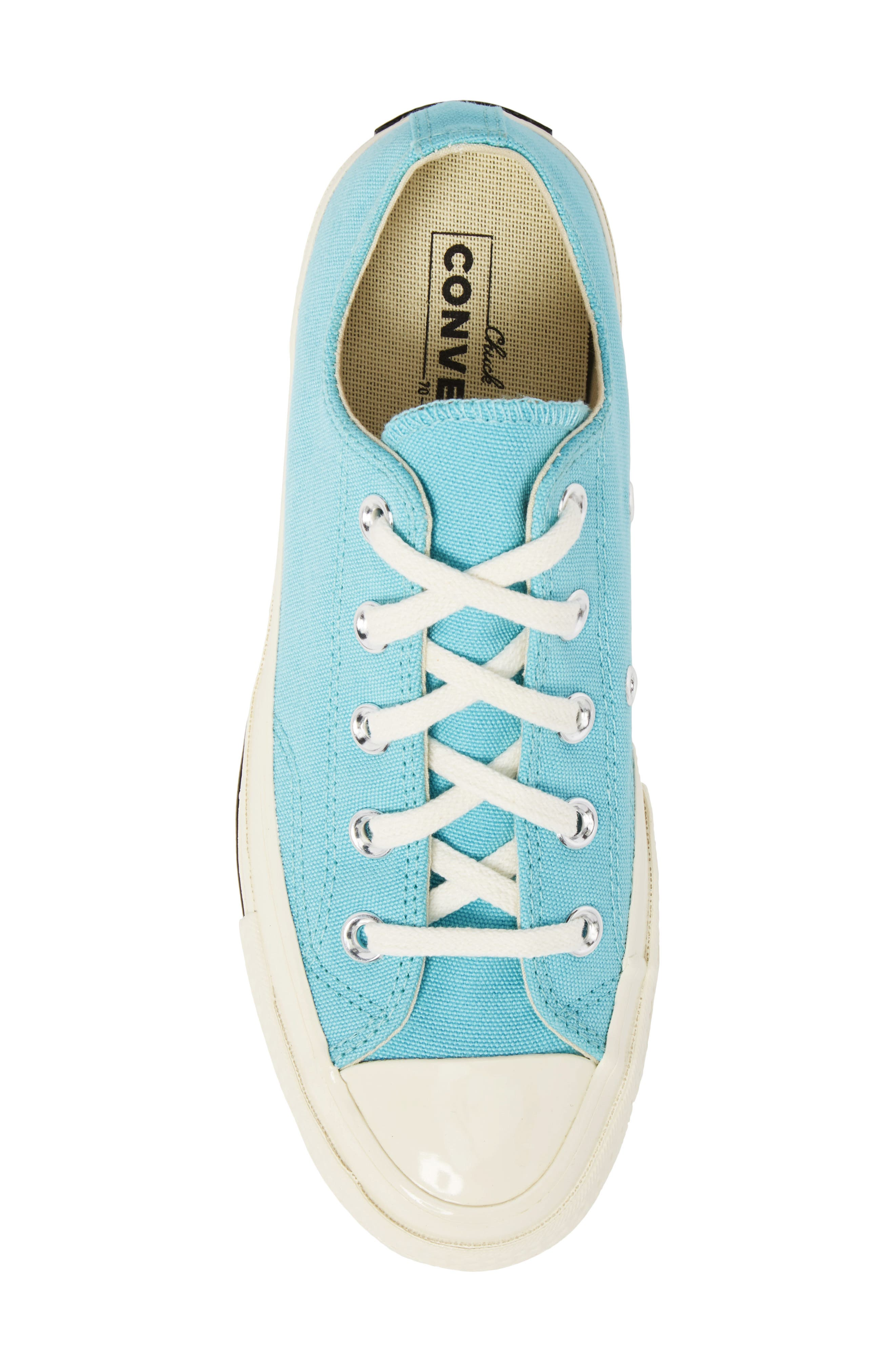 Chuck Taylor<sup>®</sup> All Star<sup>®</sup> '70s Brights Low Top Sneaker,                             Alternate thumbnail 5, color,                             Bleached Aqua
