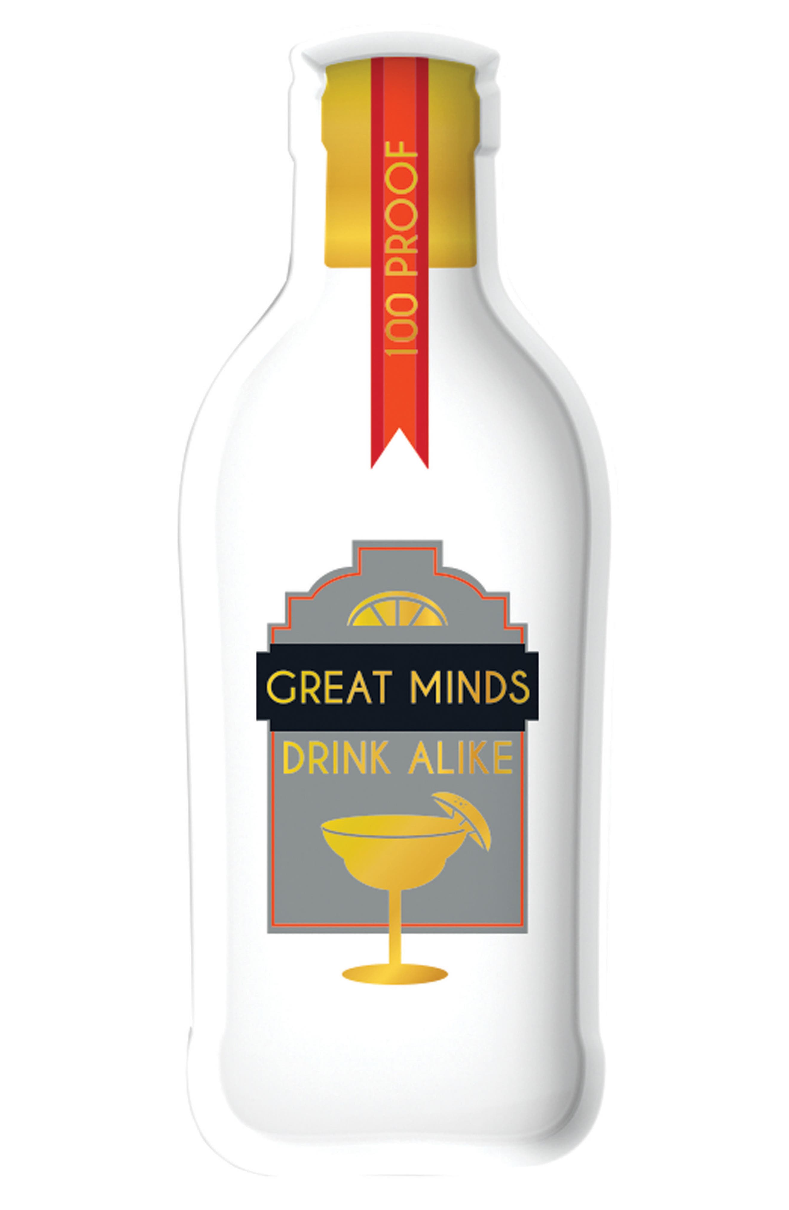 Great Minds Drink Alike Tray,                         Main,                         color, White Multi