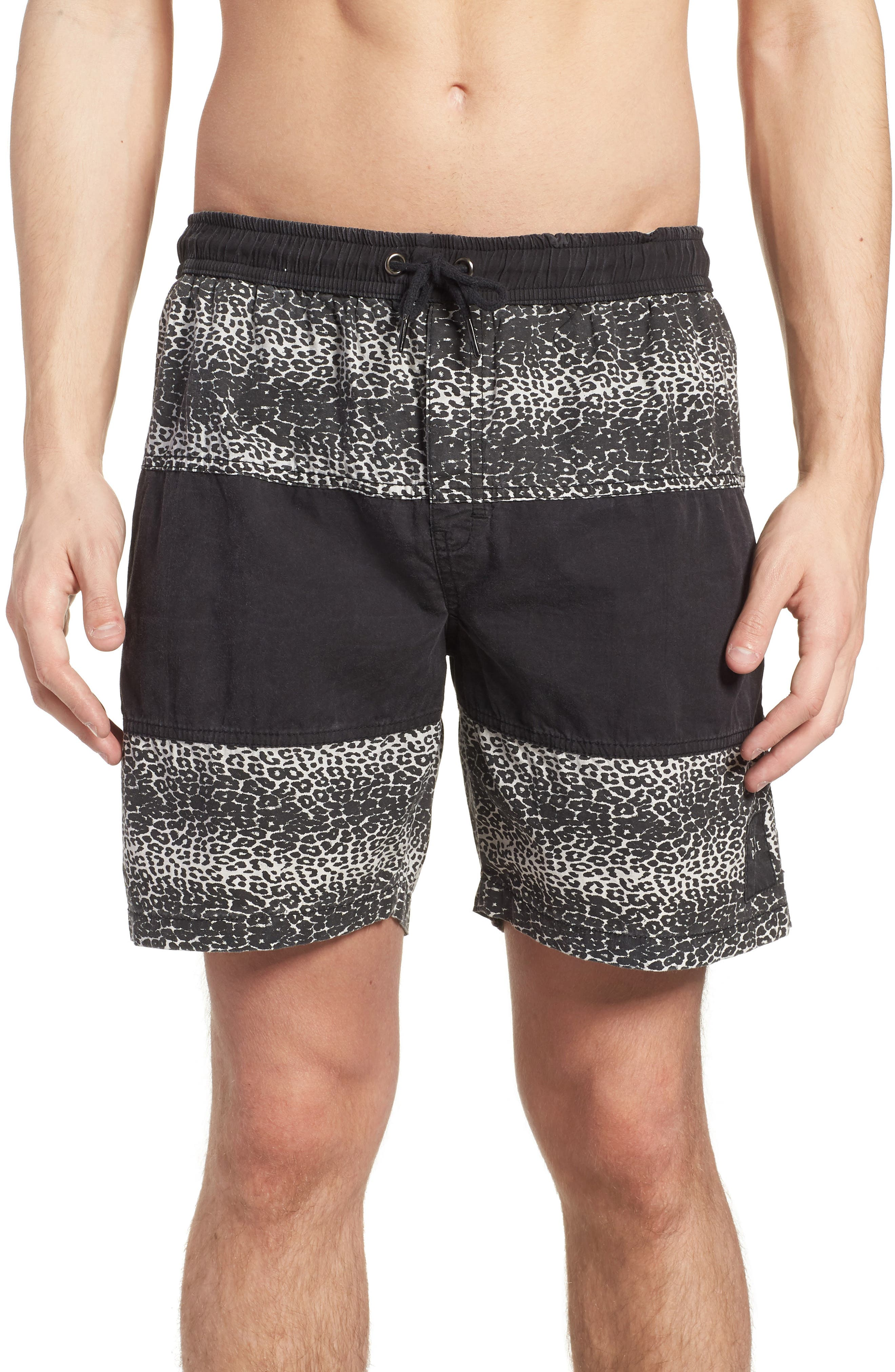 Easy Boardie Shorts,                             Main thumbnail 1, color,                             Snow Leopard