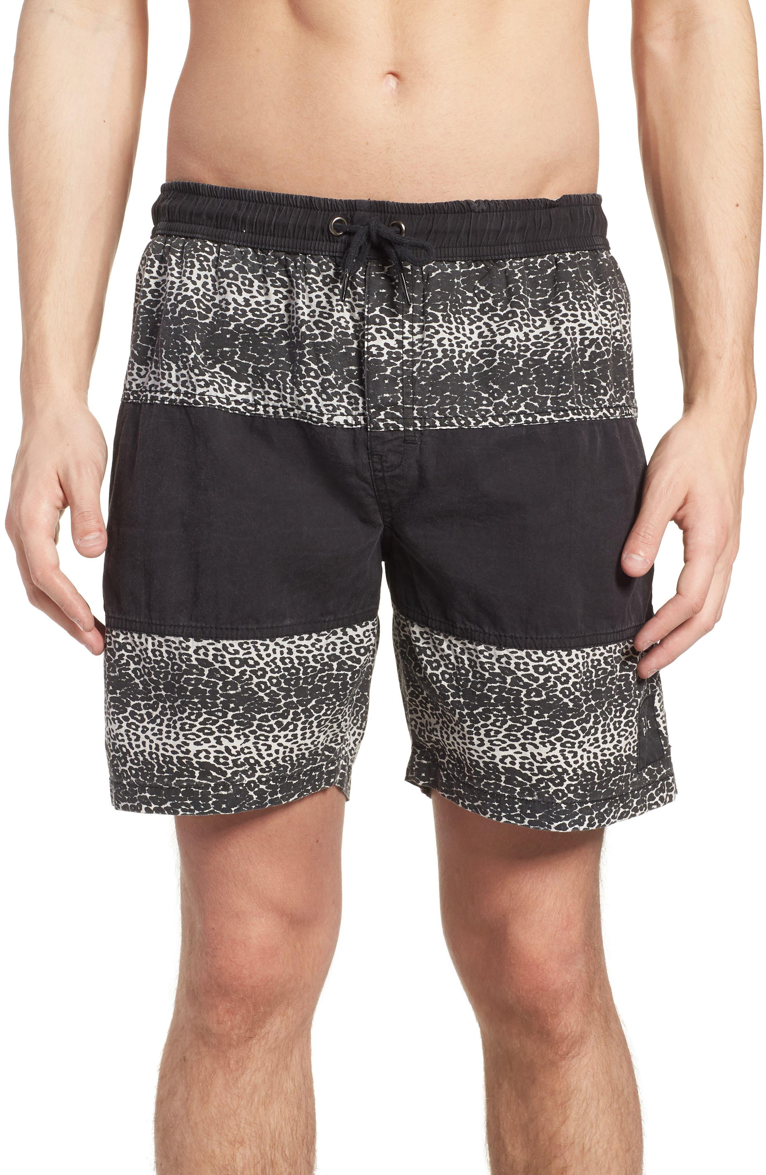 Easy Boardie Shorts,                         Main,                         color, Snow Leopard