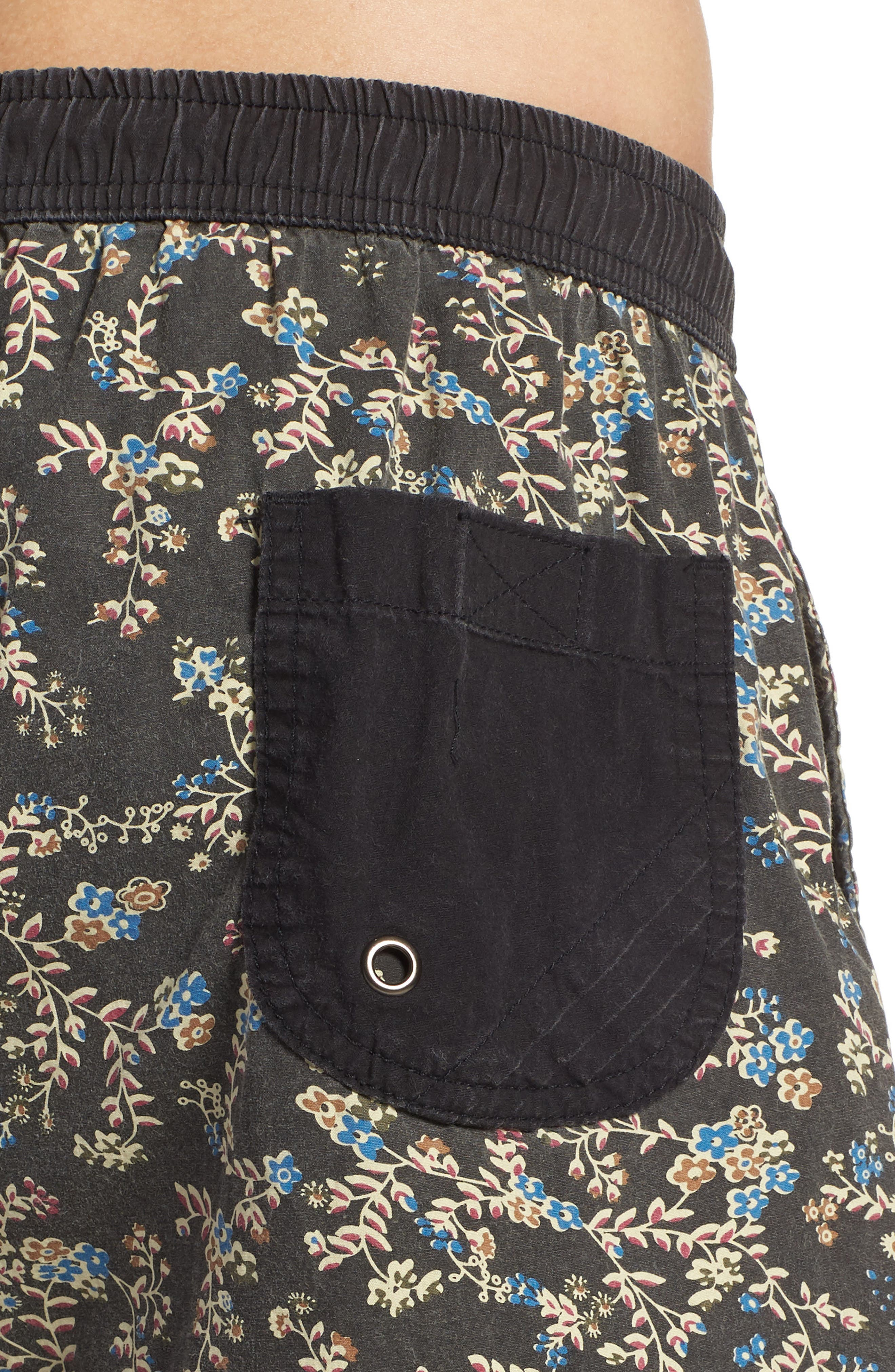 Easy Boardie Swim Trunks,                             Alternate thumbnail 4, color,                             Black Boom
