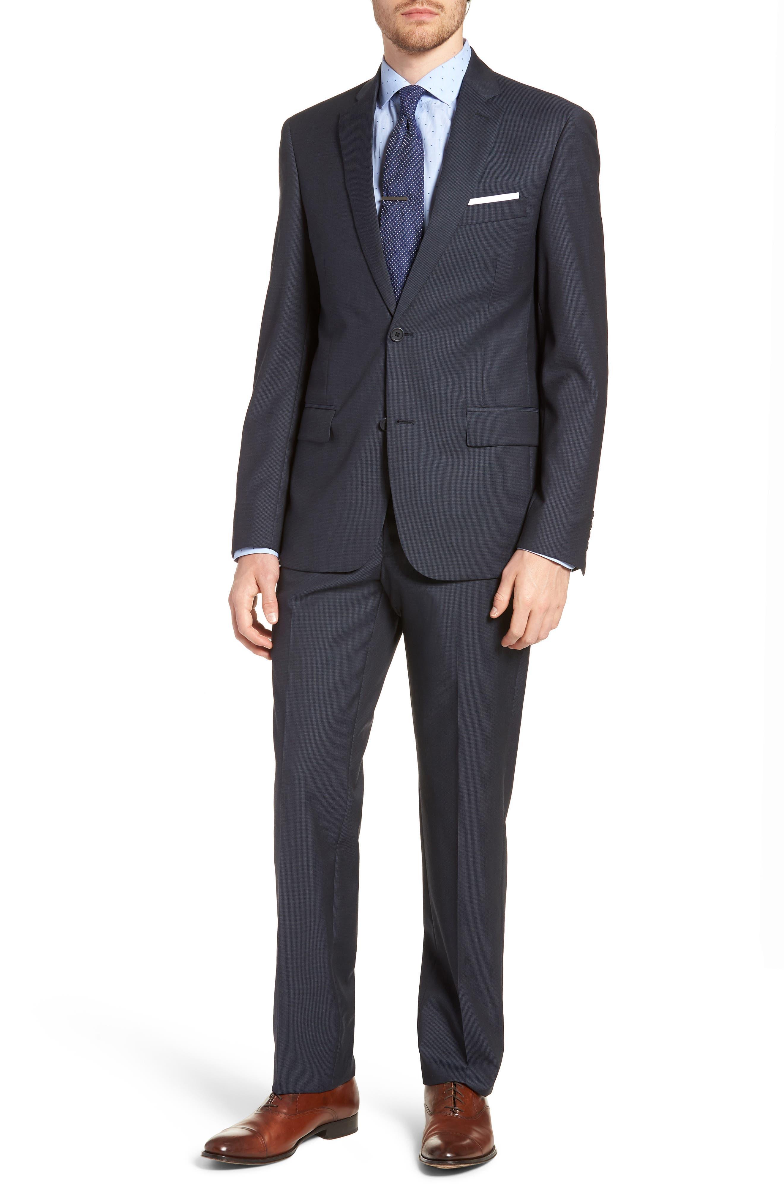 Nordstrom Men's Shop Trim Fit Nail Head Wool Suit