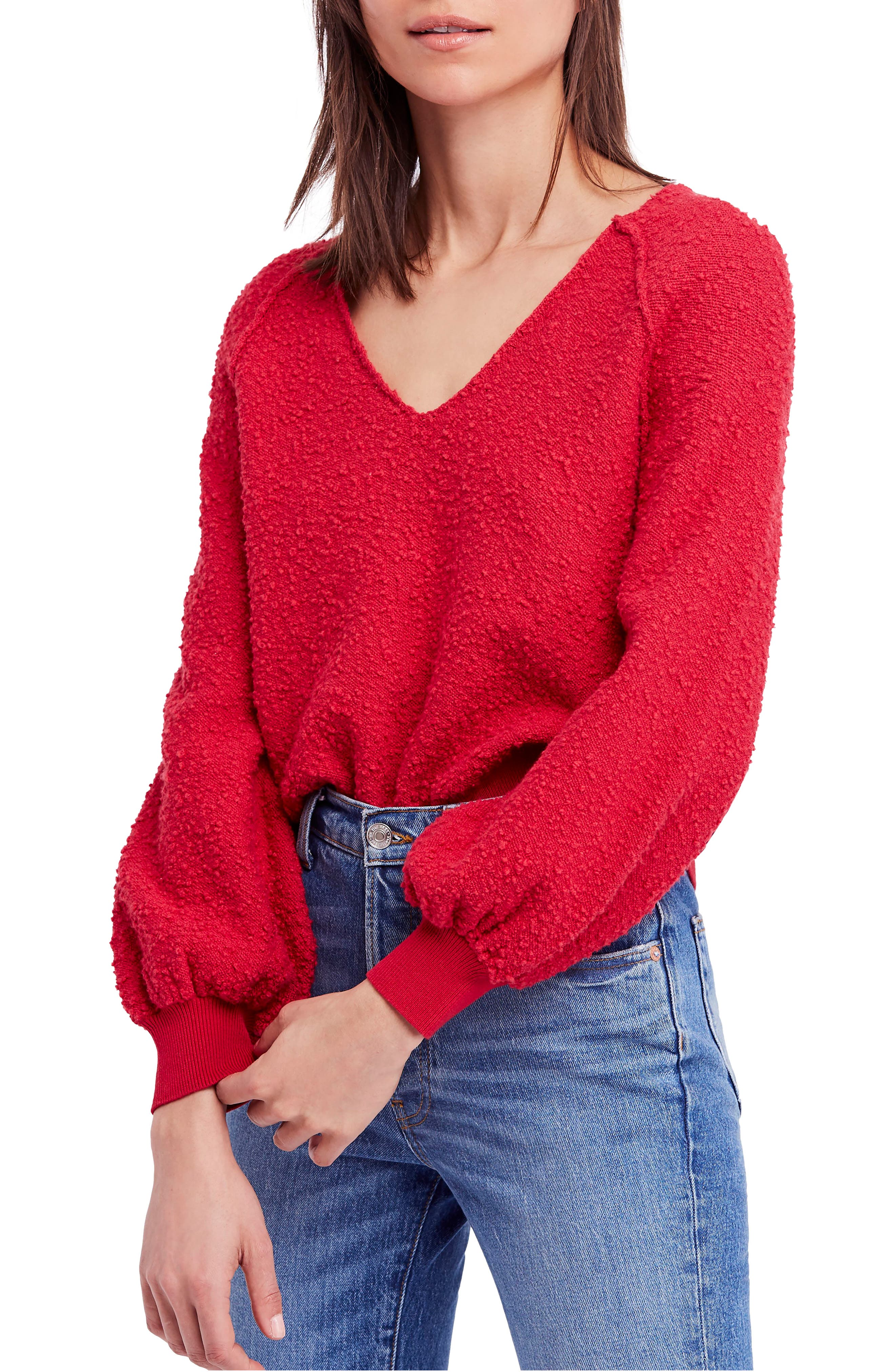 Found My Friend Sweater,                             Main thumbnail 1, color,                             Red