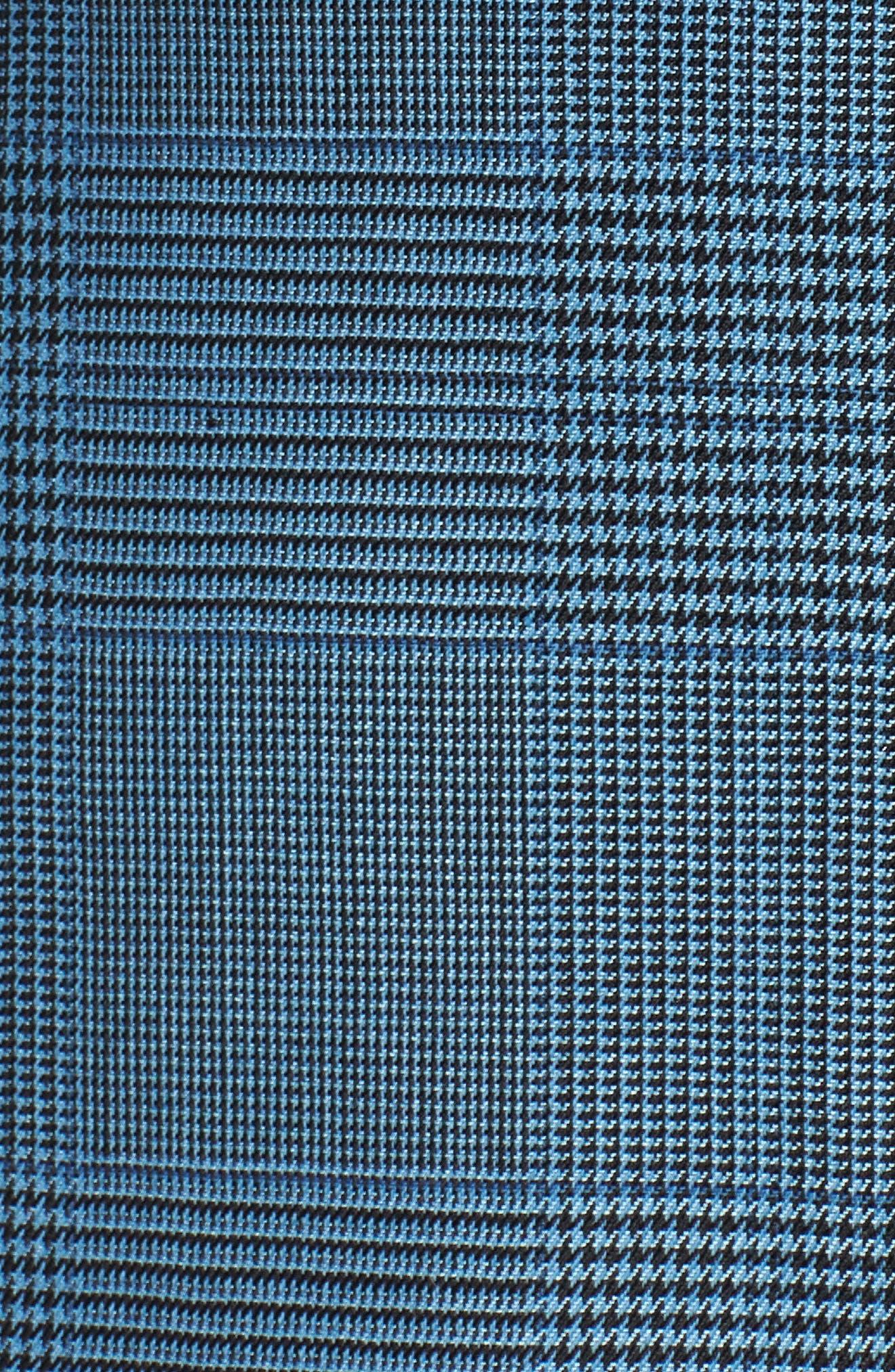 Tofilia Glencheck Slim Fit Trousers,                             Alternate thumbnail 5, color,                             Sailor Blue Fantasy