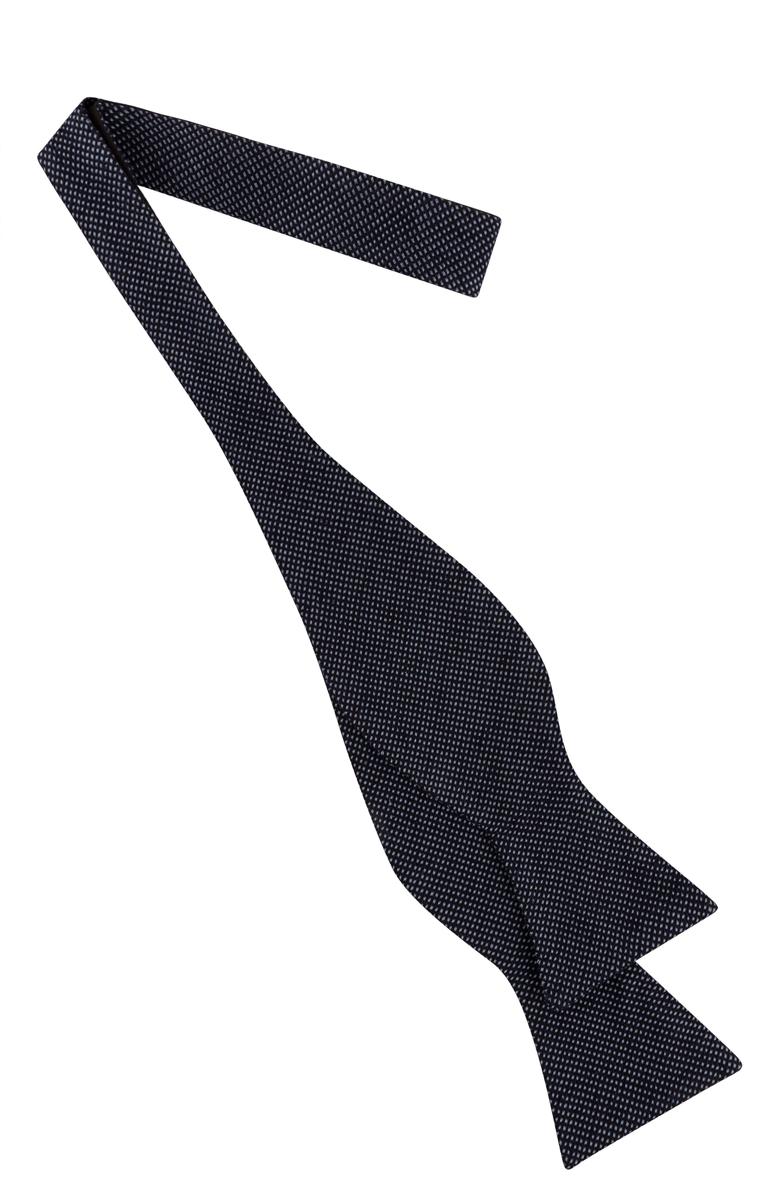 Pin Dot Silk Bow Tie,                             Alternate thumbnail 2, color,                             Navy