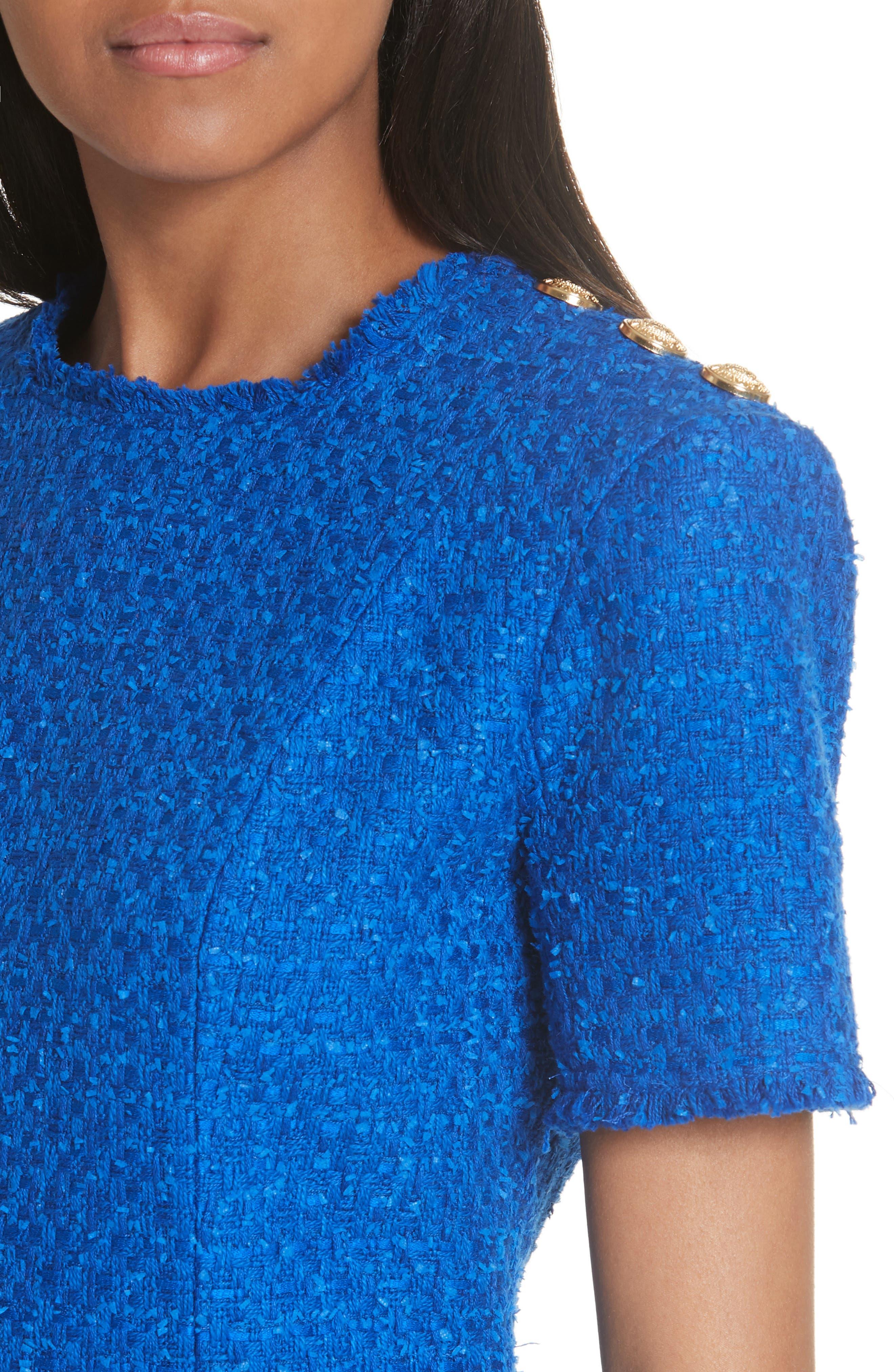 Alternate Image 4  - Balmain Button Shoulder Tweed Top