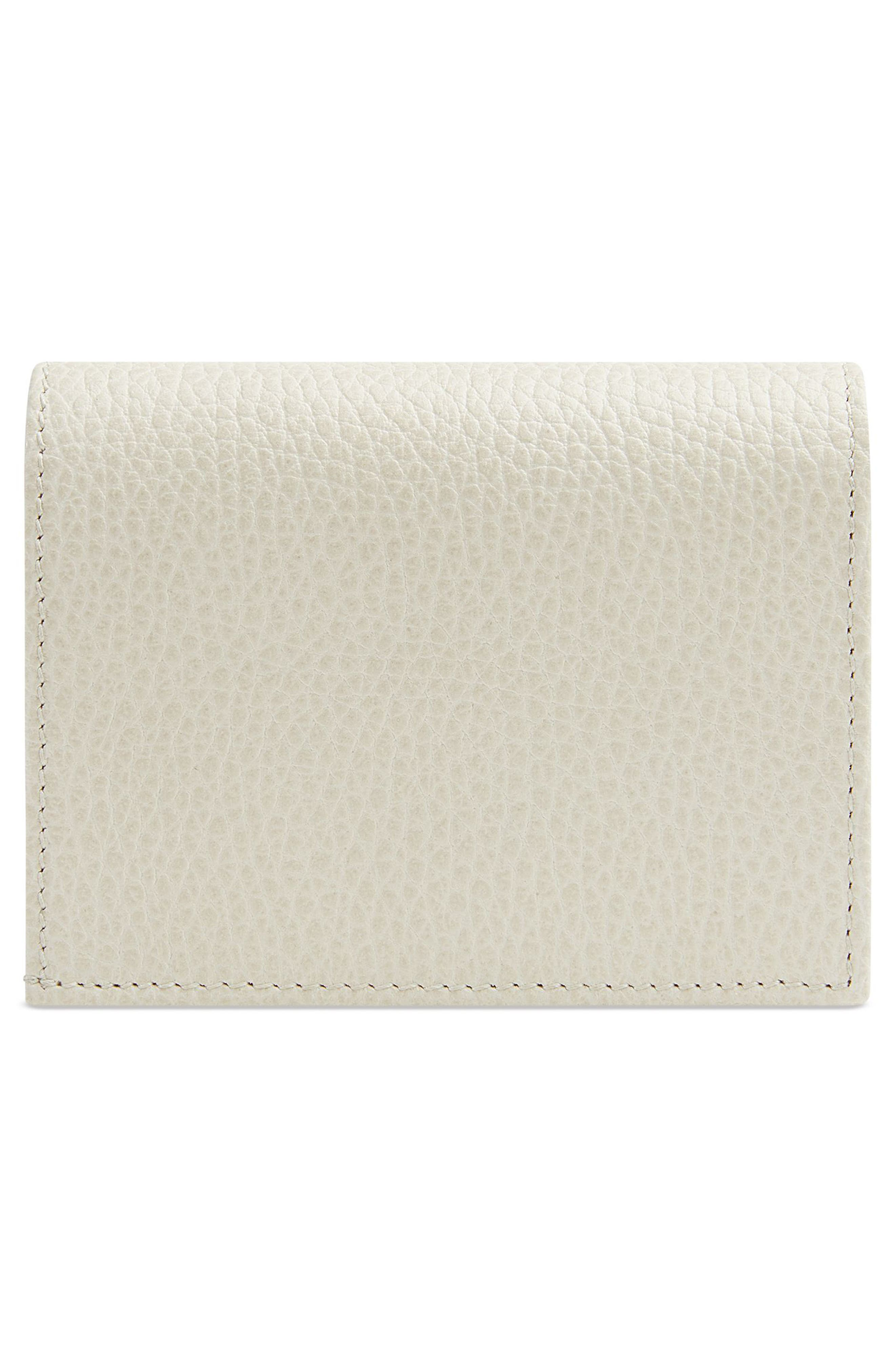 Fiocchino Leather Card Case,                             Alternate thumbnail 4, color,                             Mystic White/ Pink/ Crystal