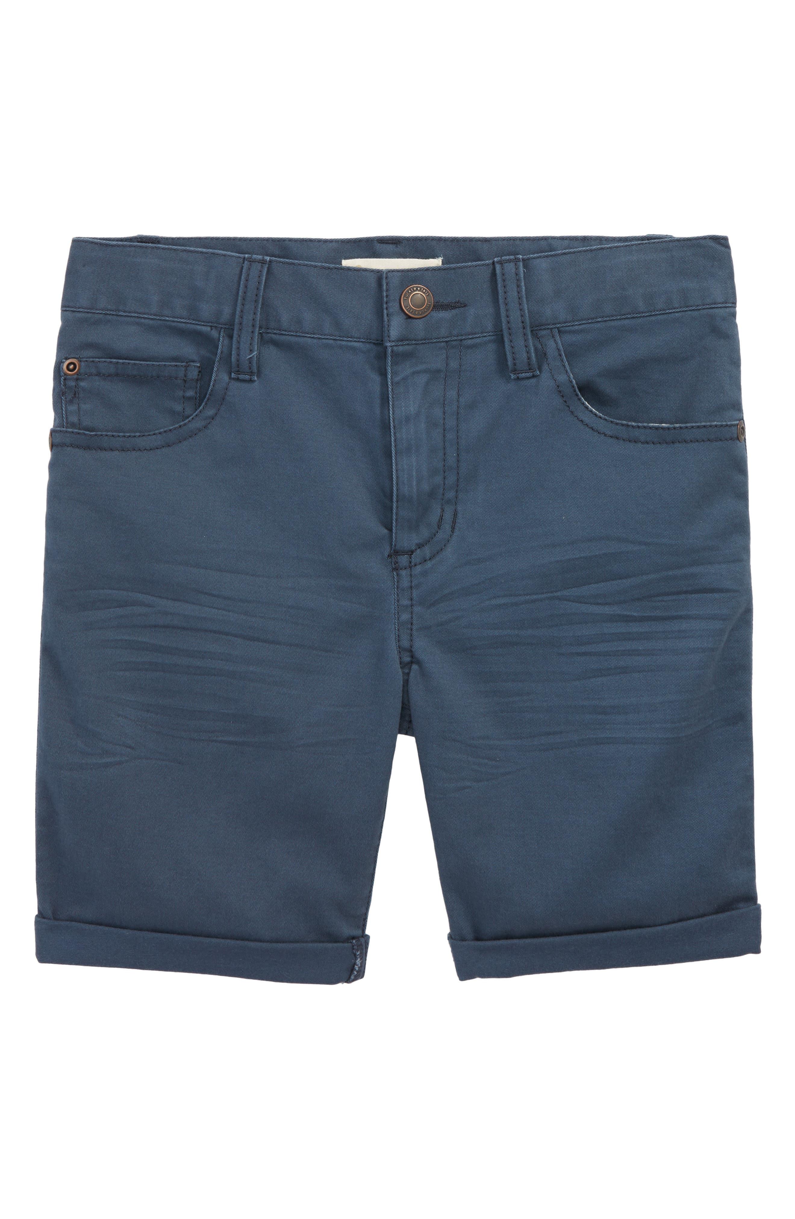 Stretch Twill Shorts,                         Main,                         color, Navy Midnight